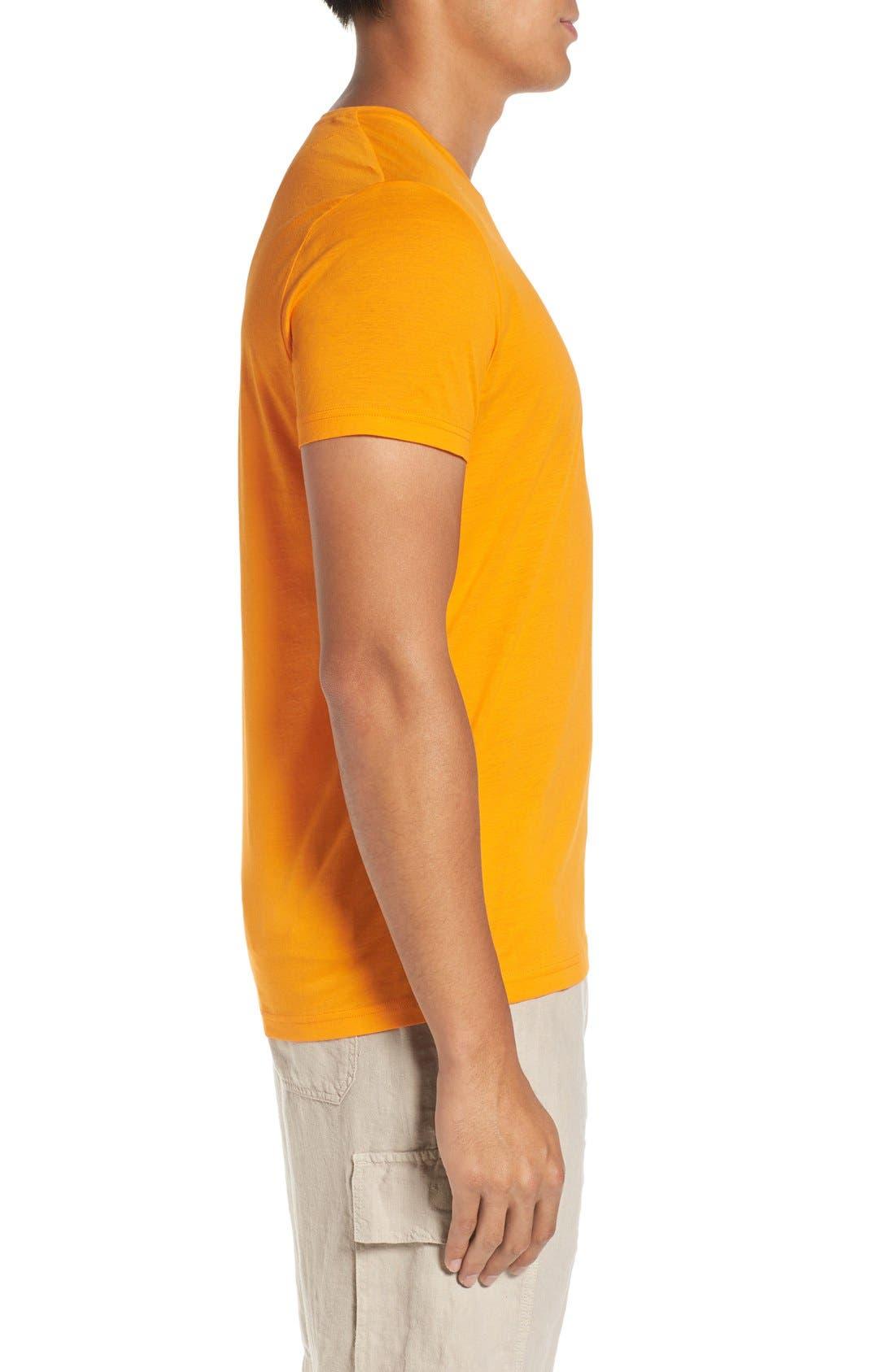 V-Neck T-Shirt,                             Alternate thumbnail 3, color,                             KUMQUAT