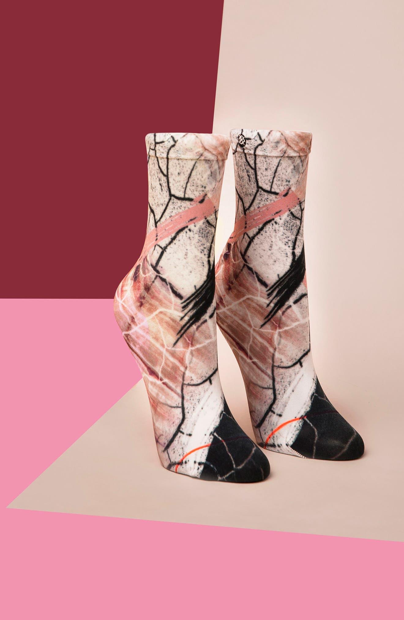 Crackle Ankle Socks,                             Alternate thumbnail 5, color,                             100