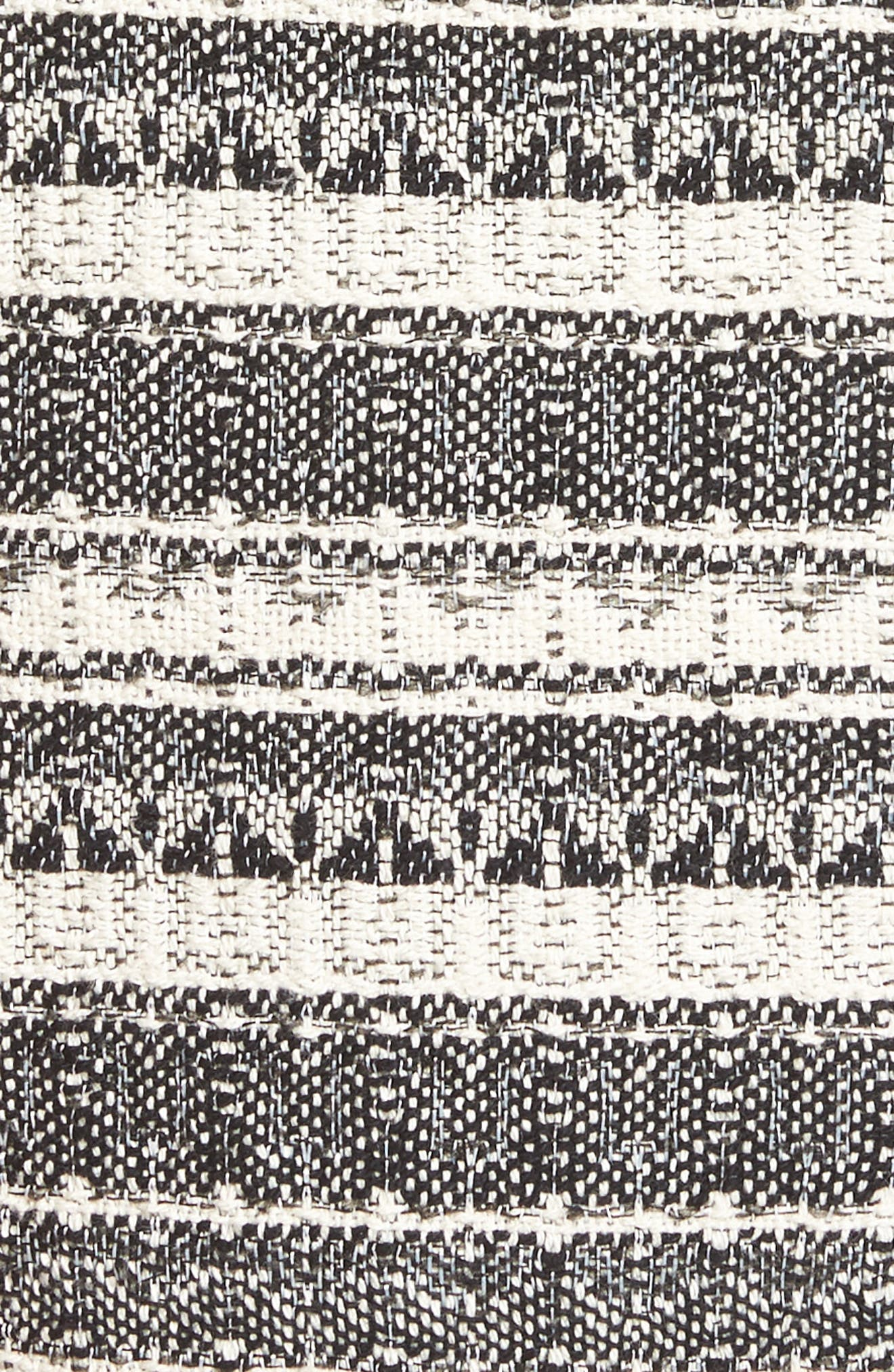 Long Stripe Tweed Jacket,                             Alternate thumbnail 5, color,                             001