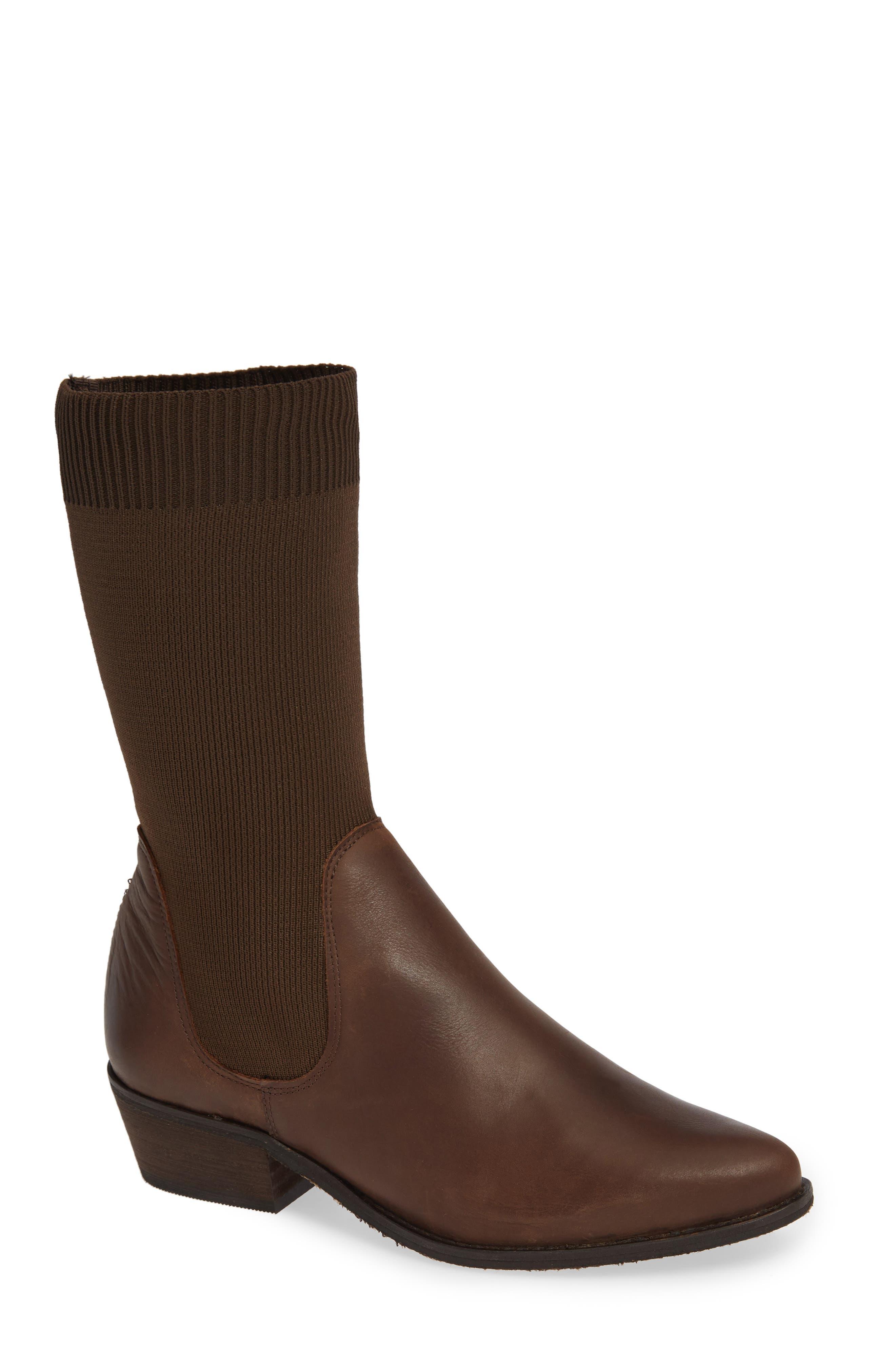 Free People Merritt Western Sock Boot, Brown