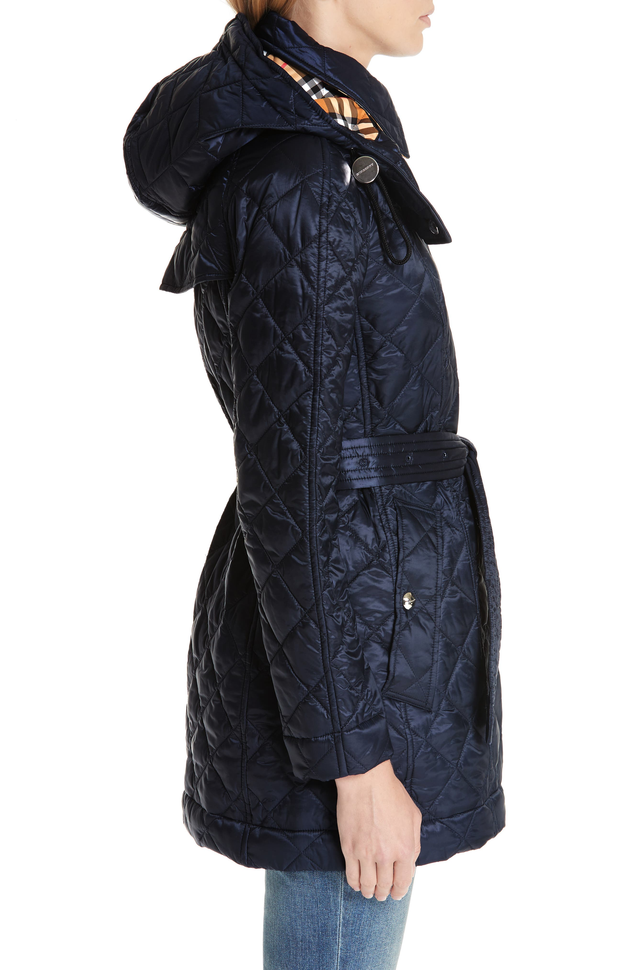 Baughton 18 Quilted Coat,                             Alternate thumbnail 3, color,                             INK