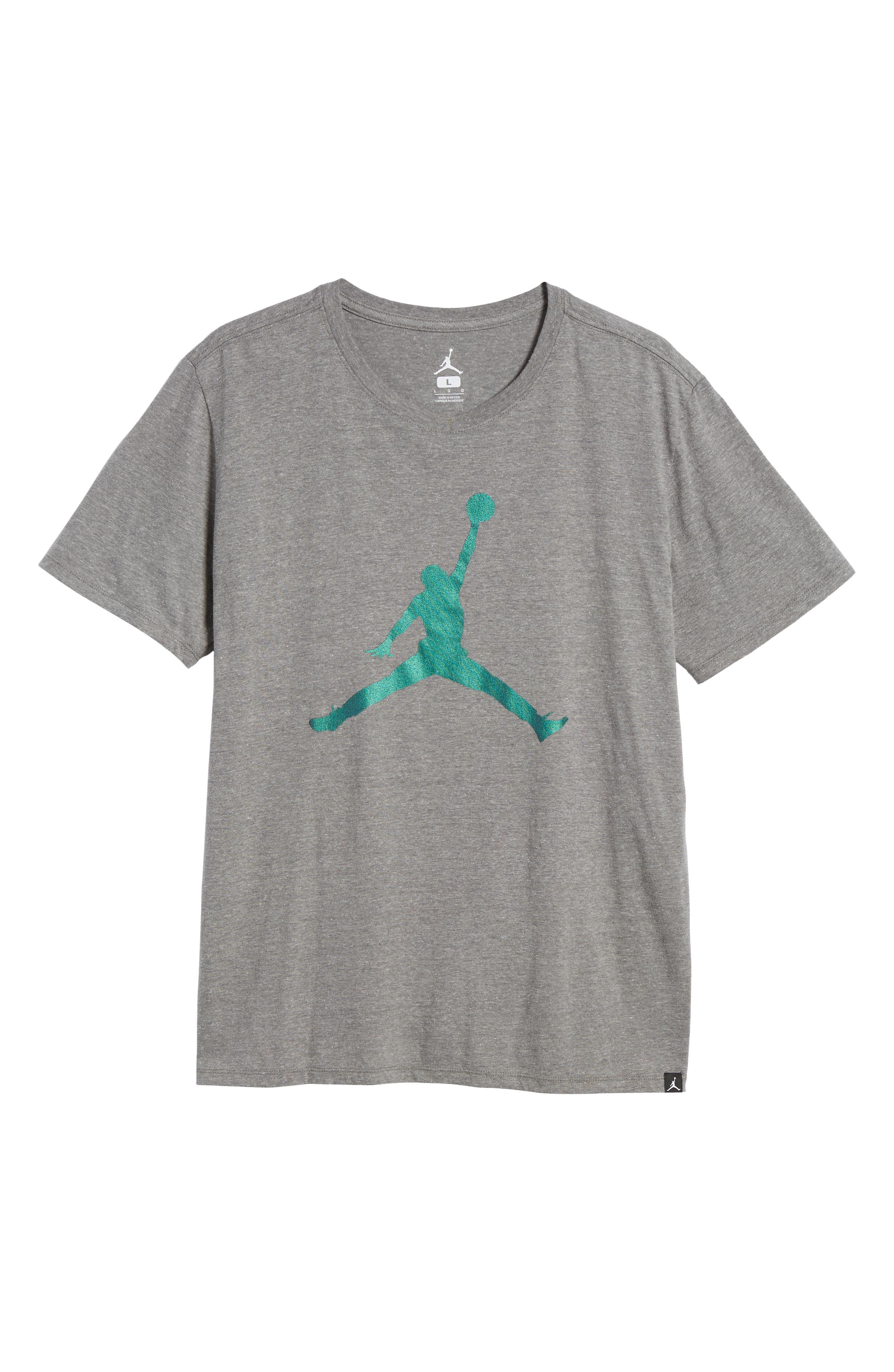 Nike Jumpman Tee,                             Alternate thumbnail 6, color,                             CARBON HEATHER
