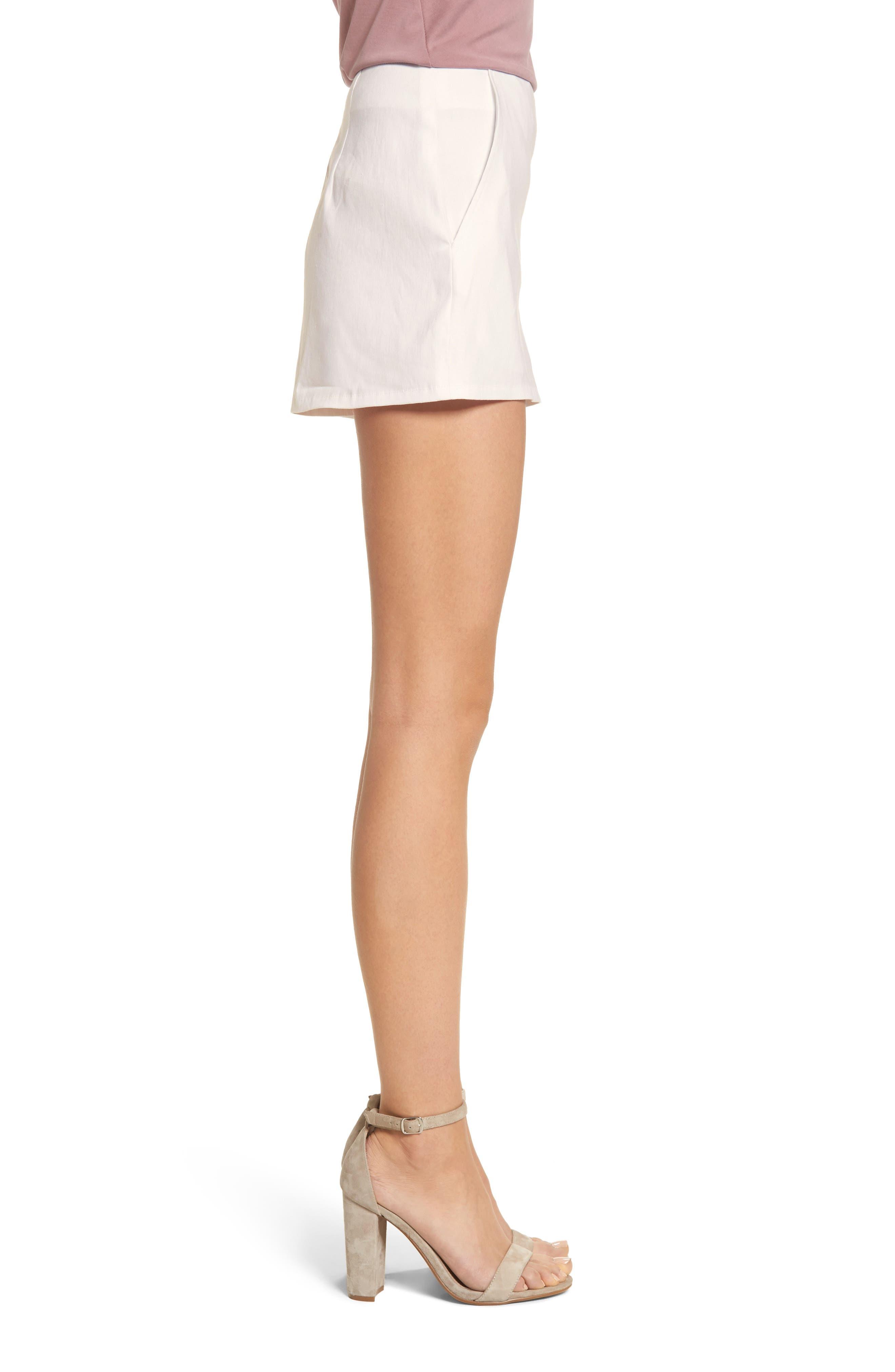 High Waist Linen Blend Shorts,                             Alternate thumbnail 15, color,