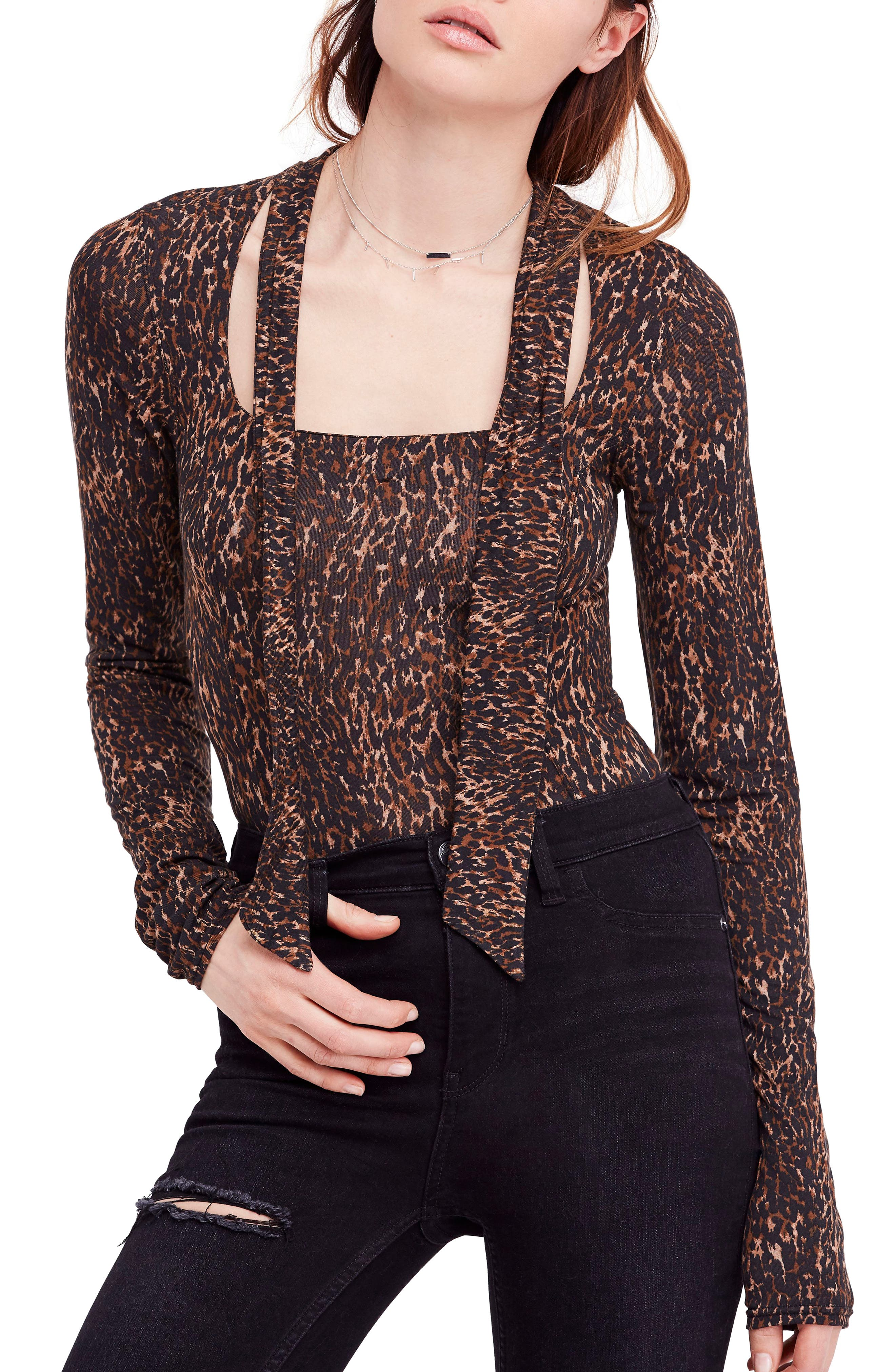 Wild Thing Leopard Print Top,                             Main thumbnail 1, color,                             214