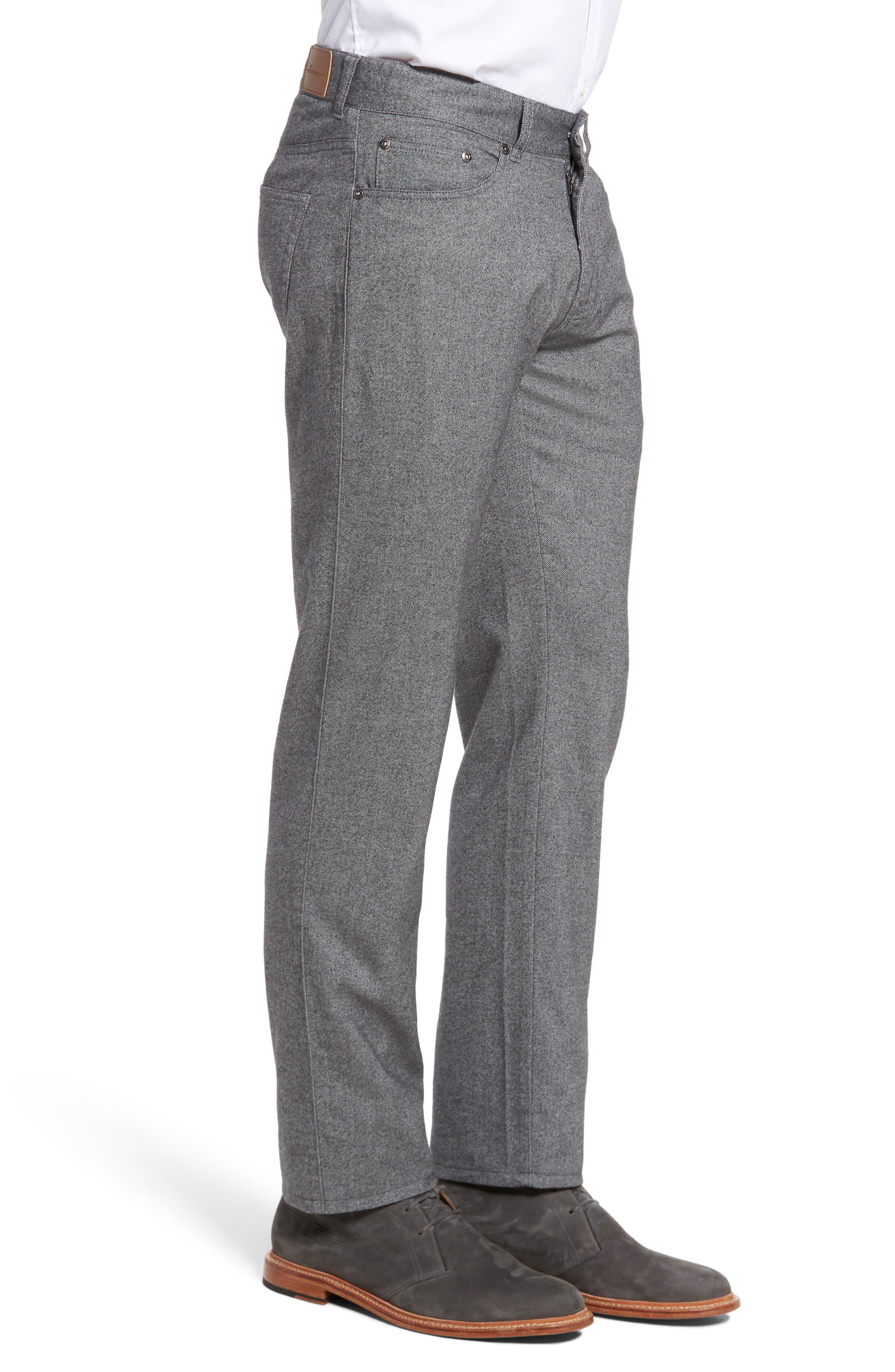 Mountainside Flannel Five-Pocket Pants,                             Alternate thumbnail 3, color,                             033