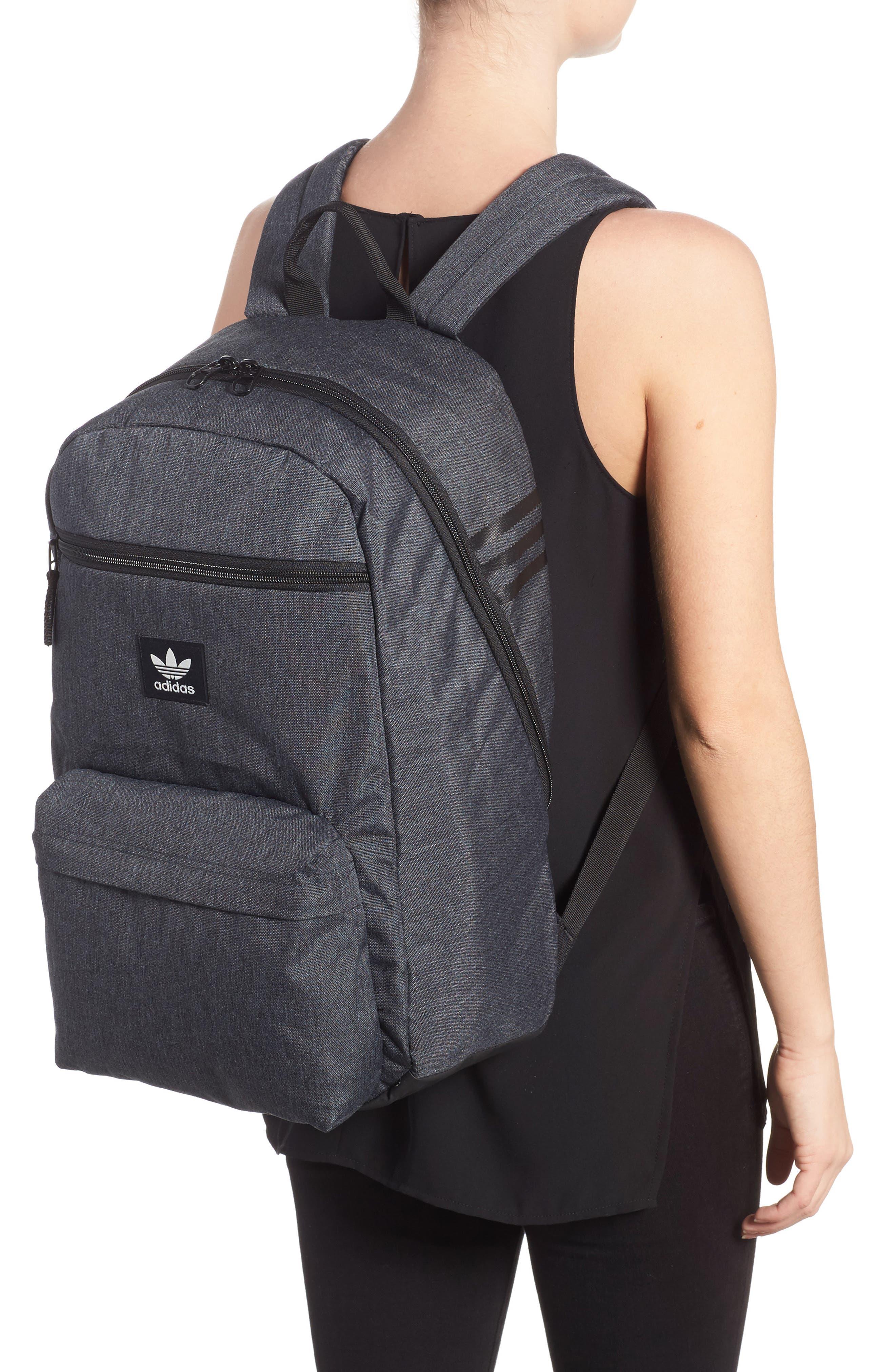 National Plus Backpack,                             Alternate thumbnail 2, color,                             BLACK/ GREY HEATHER/ WHITE