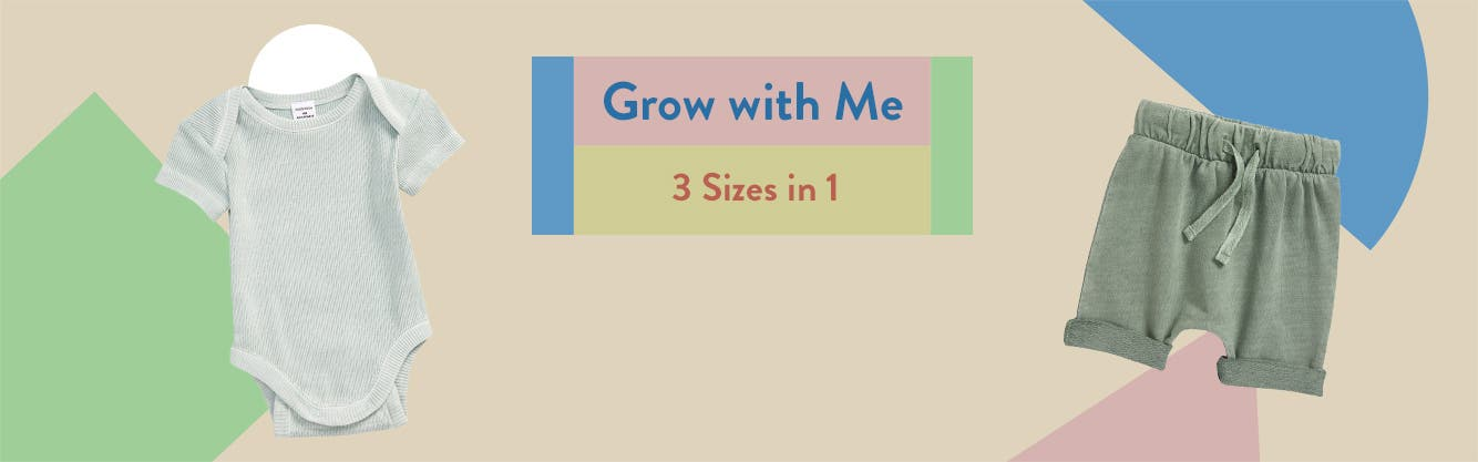 Baby clothing from Grow with Me.