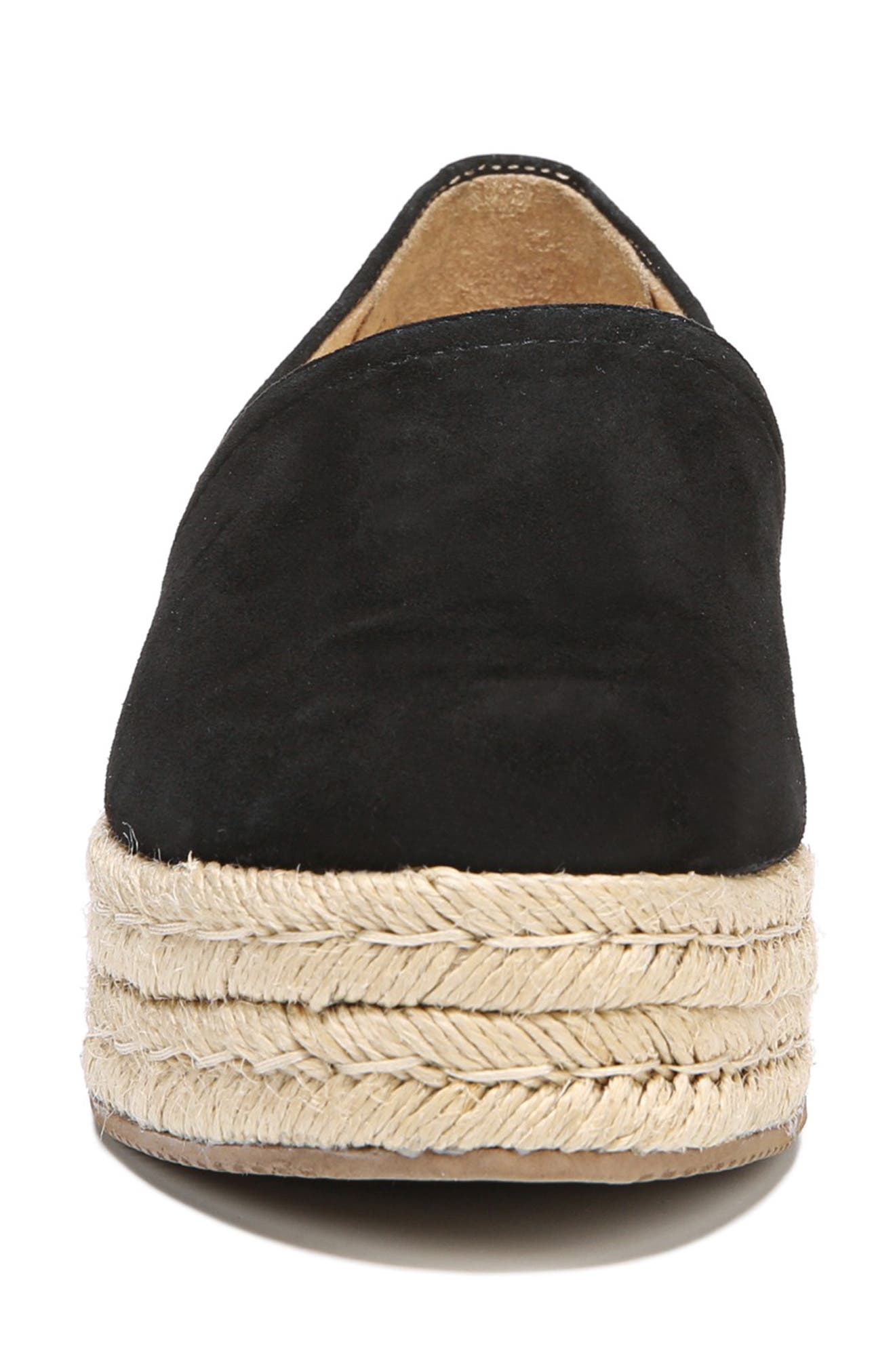 NATURALIZER,                             Thea III Espadrille Slip-On,                             Alternate thumbnail 4, color,                             001