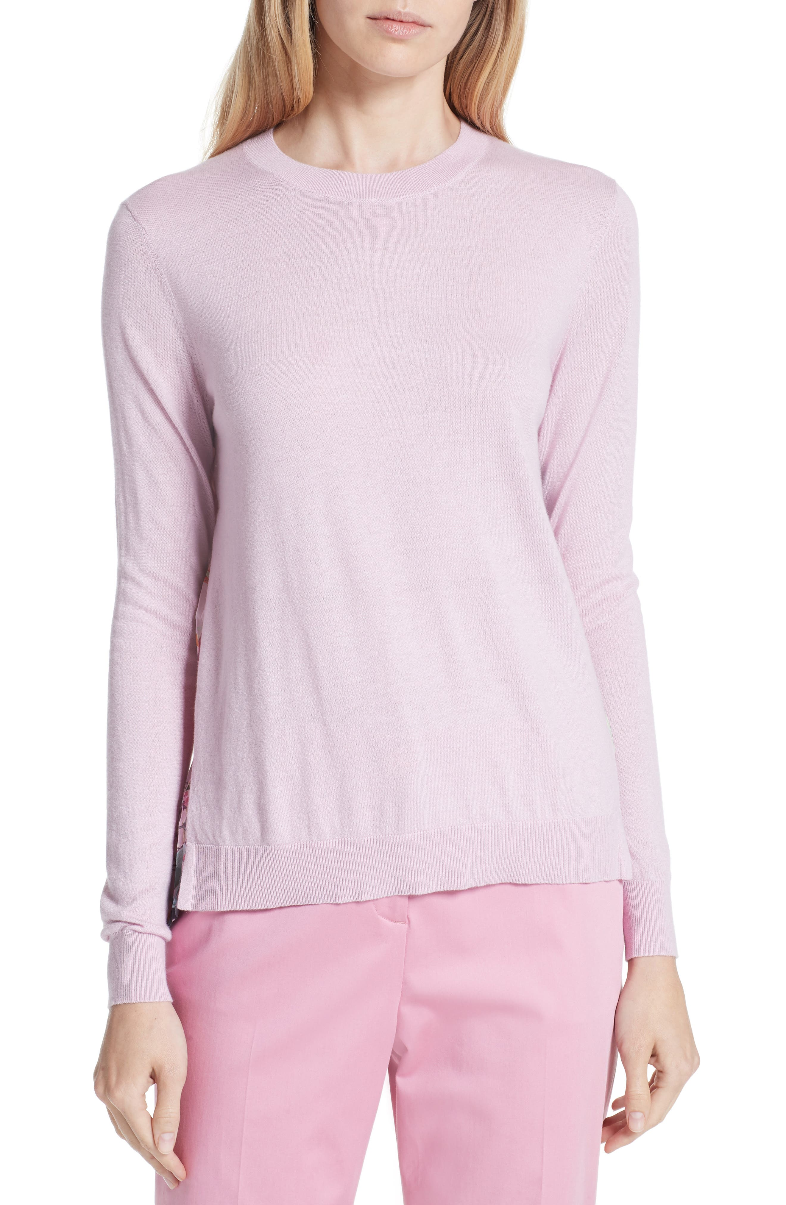 Kaleese Serenity Pleat Back Silk Cotton Sweater,                         Main,                         color, 531