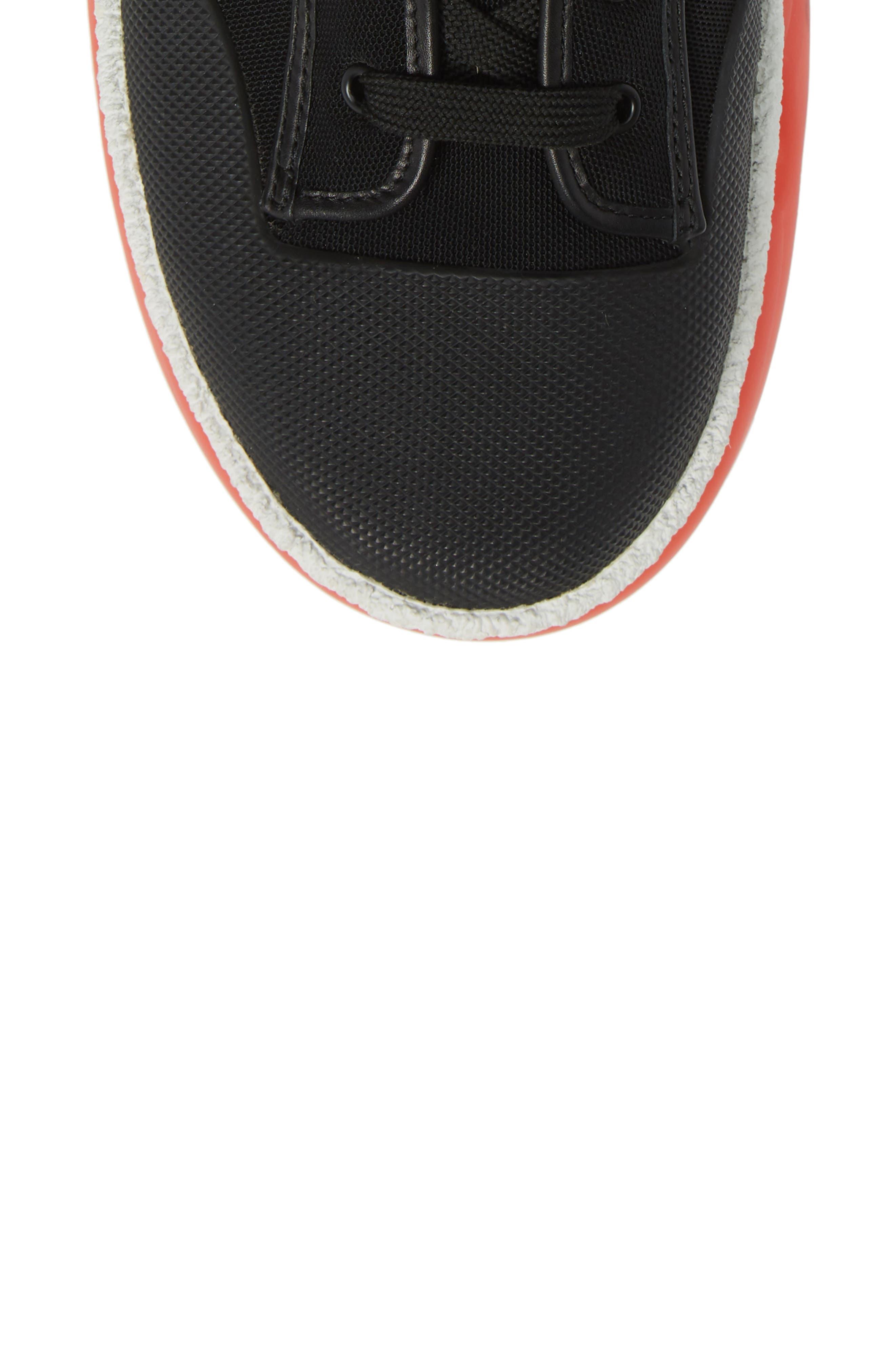 ALEXANDER WANG,                             Logo Platform Sneaker,                             Alternate thumbnail 5, color,                             BLACK