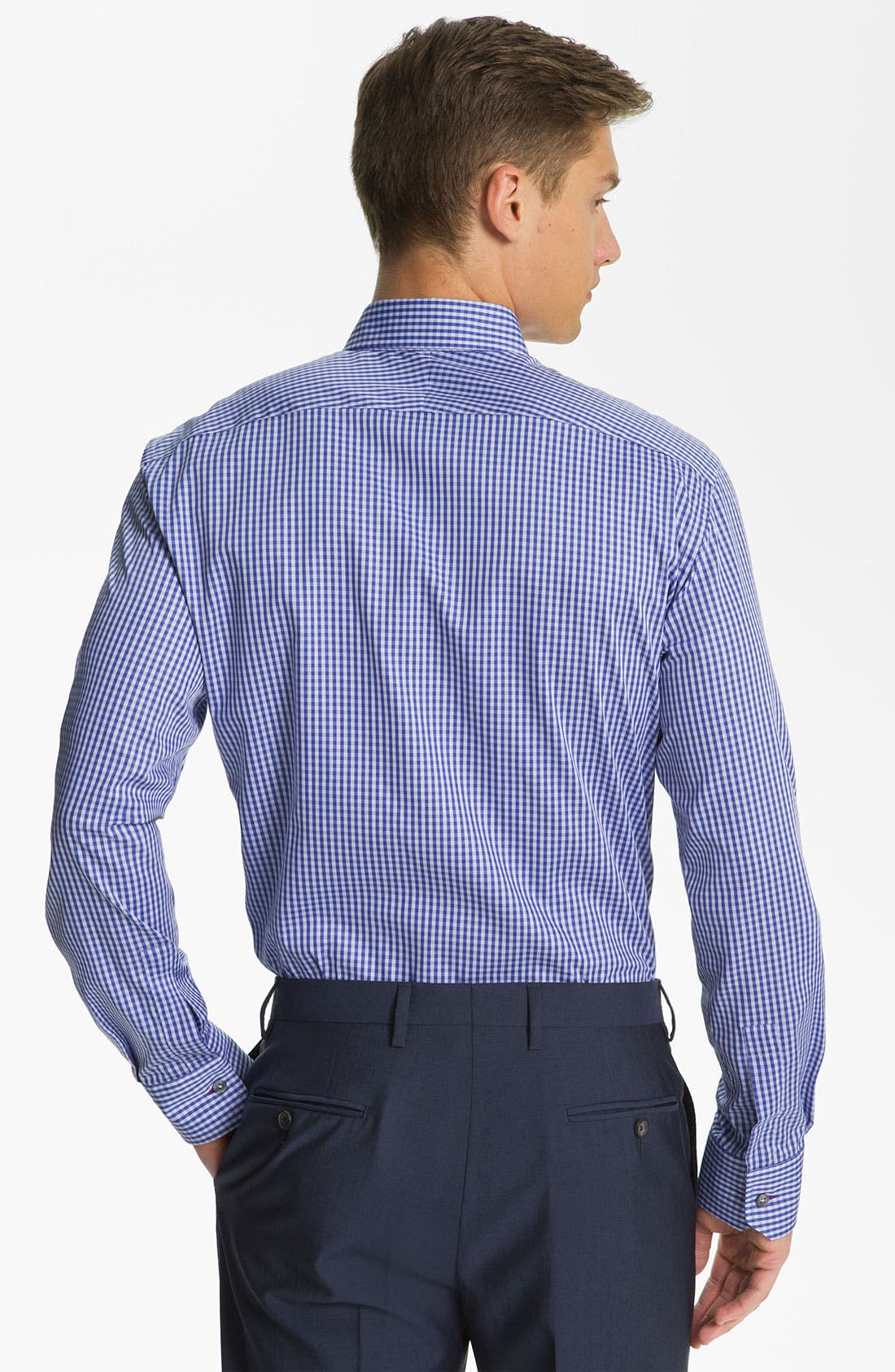 Gingham Check Dress Shirt,                             Alternate thumbnail 2, color,                             414