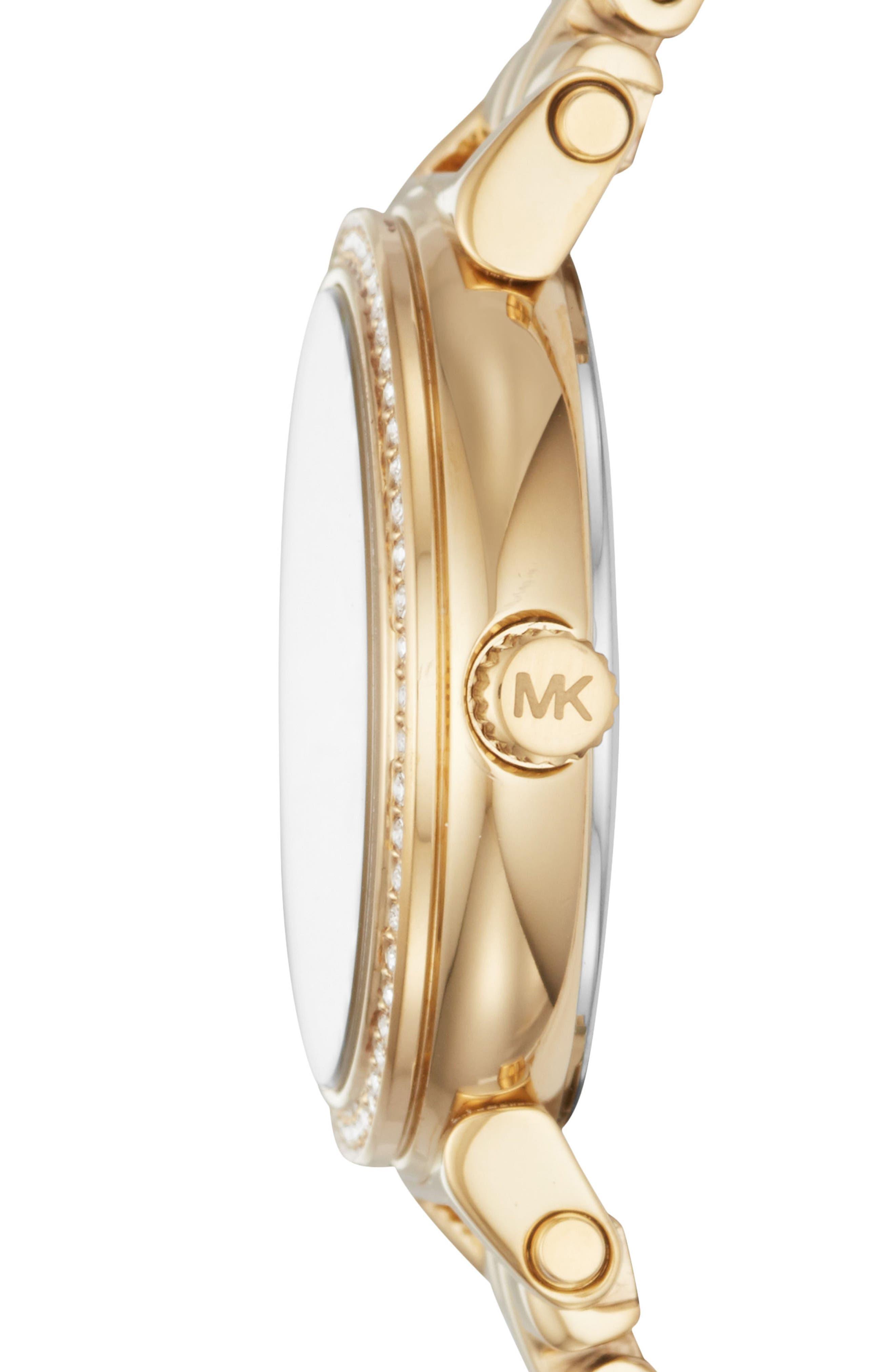 Sofie Bracelet Watch, 26mm,                             Alternate thumbnail 2, color,                             GOLD/ MOP/ GOLD