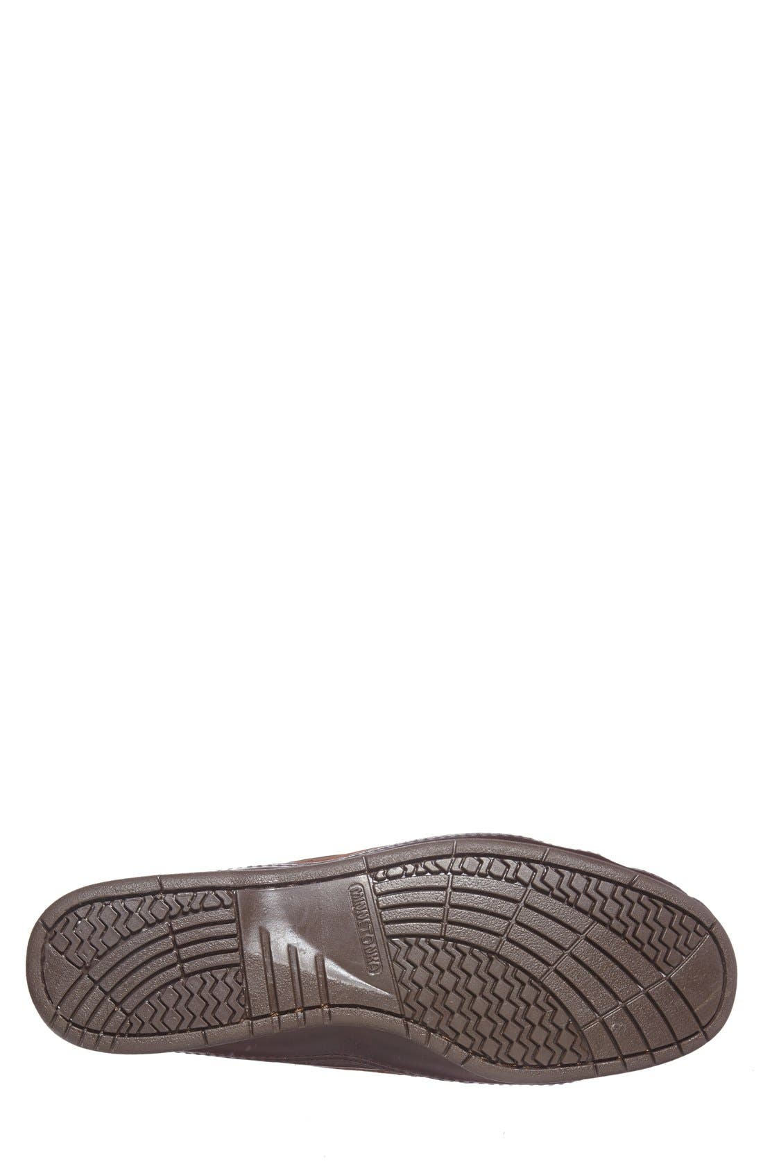 Double Sole Moccasin,                             Alternate thumbnail 4, color,                             BROWN