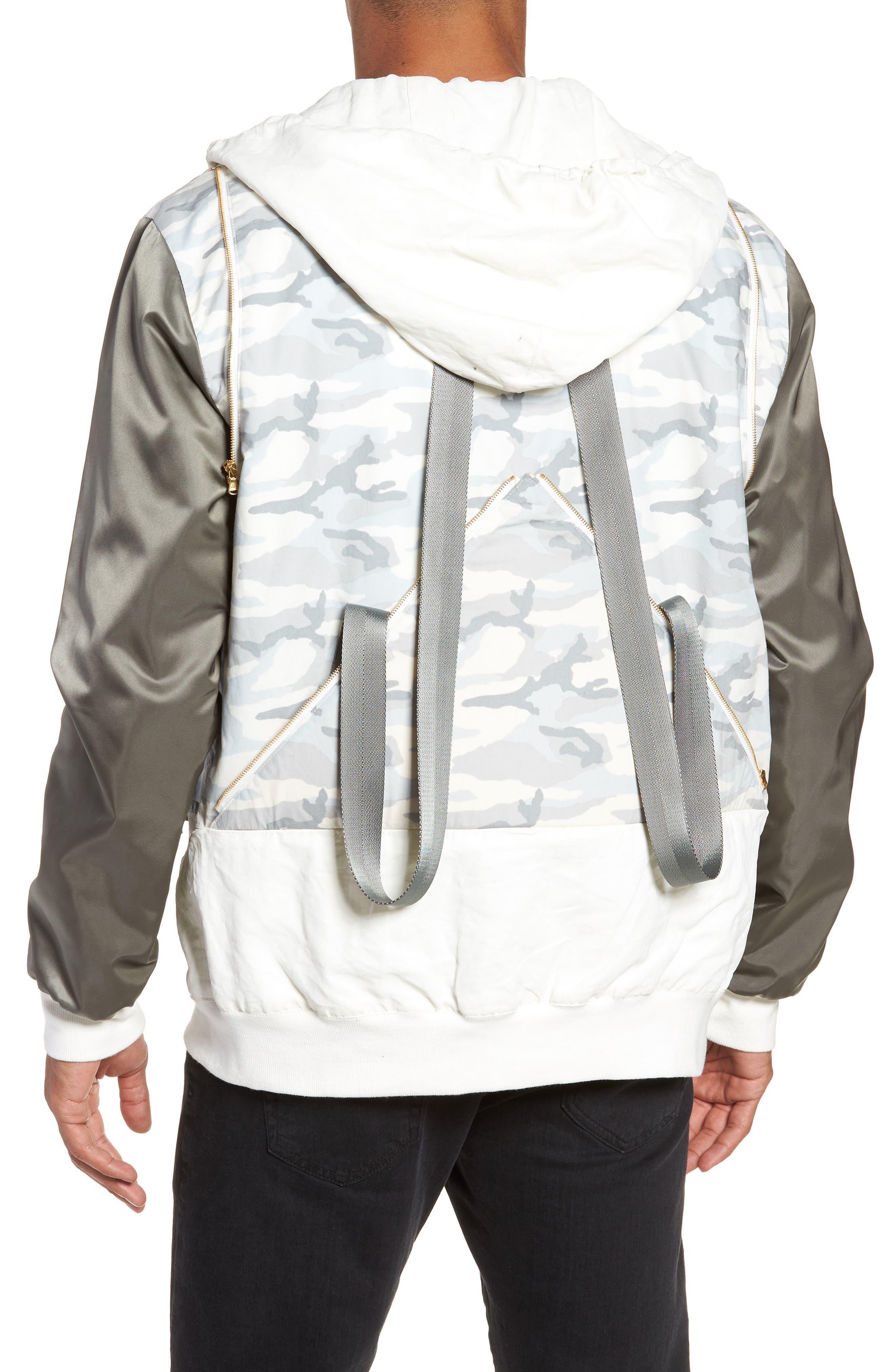 New Reversible Backpack Jacket,                             Alternate thumbnail 3, color,                             CREAM