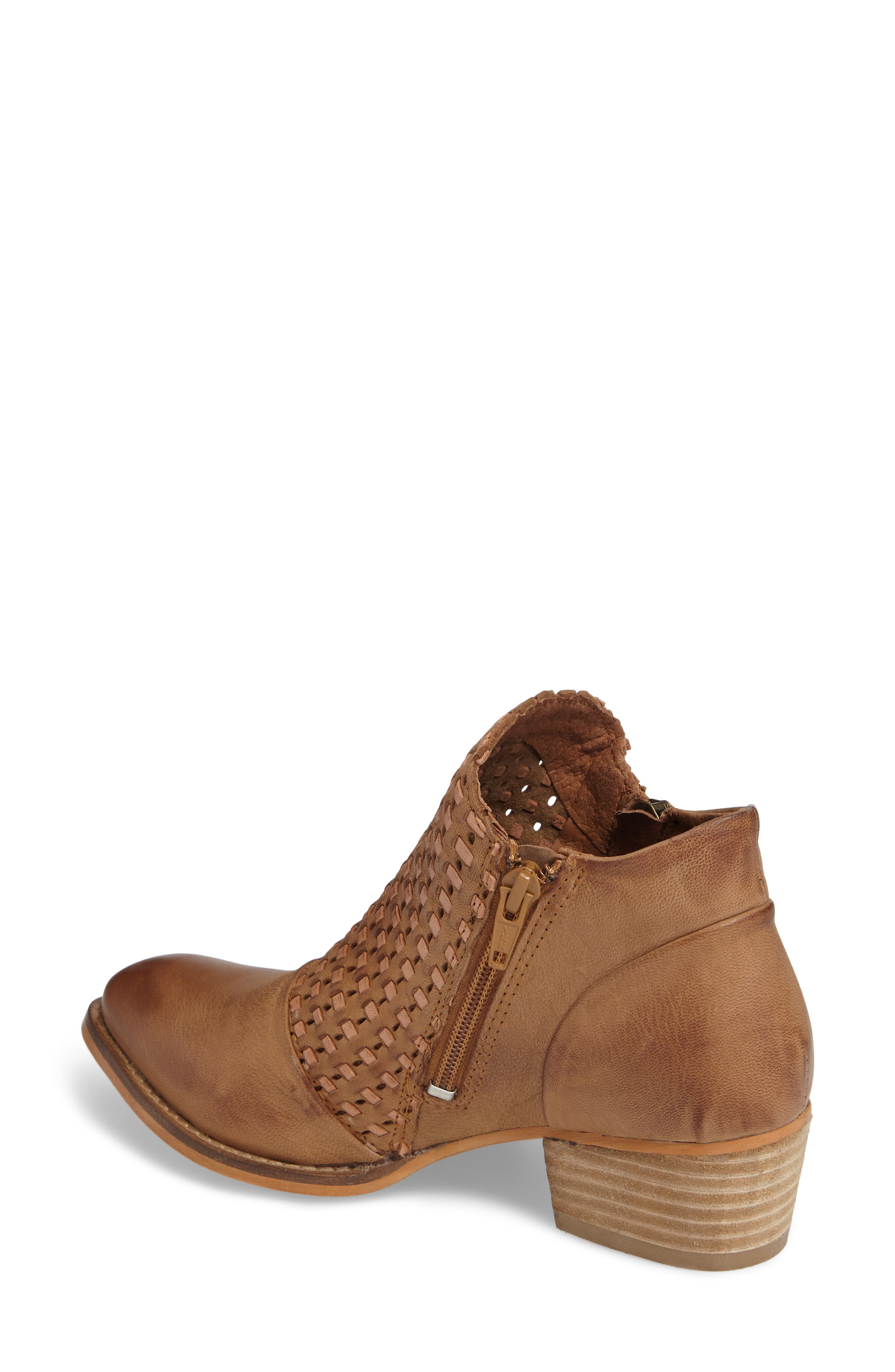 Ravi Perforated Woven Bootie,                             Alternate thumbnail 4, color,