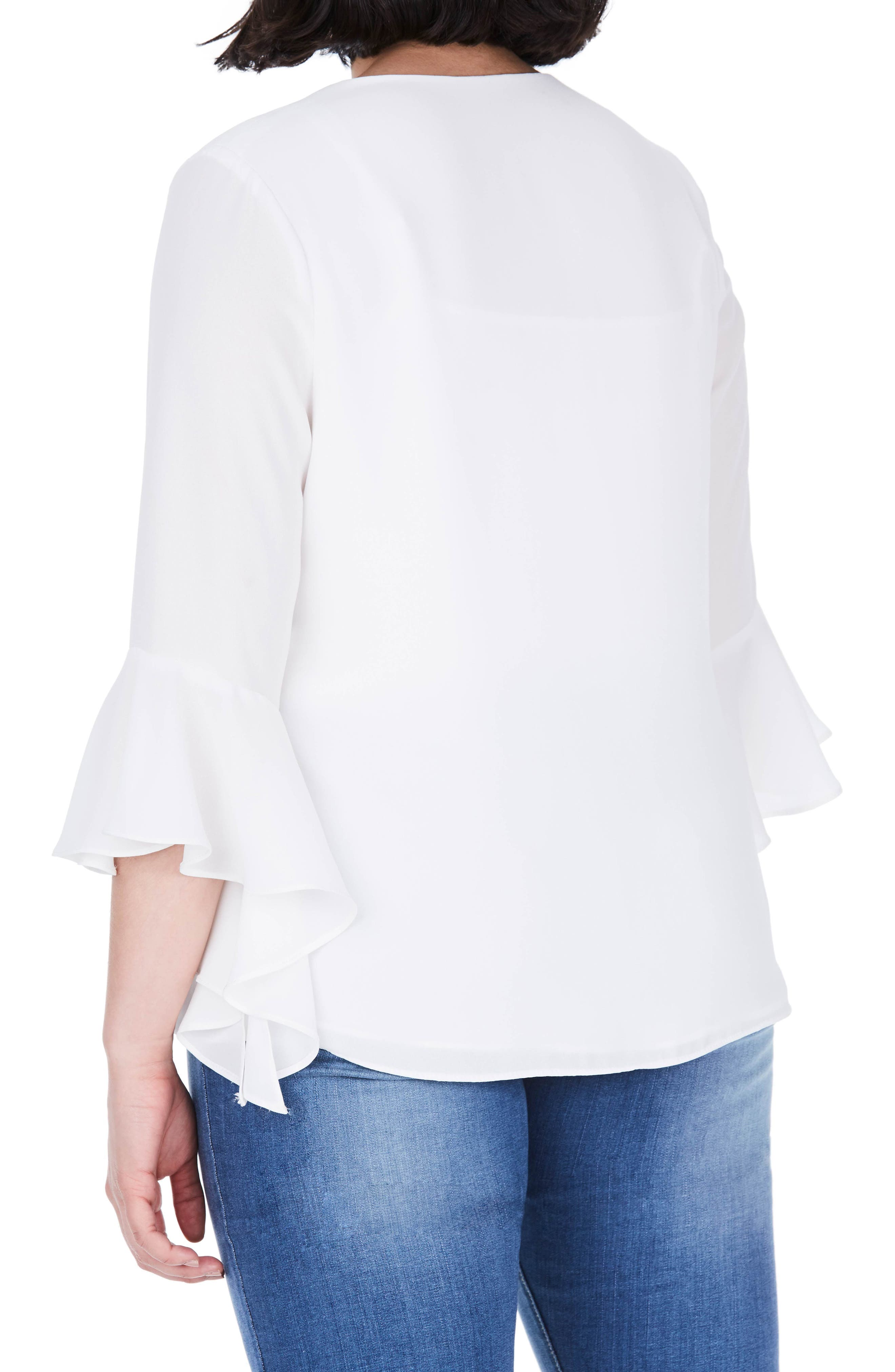 Bell Sleeve Top,                             Alternate thumbnail 2, color,                             100