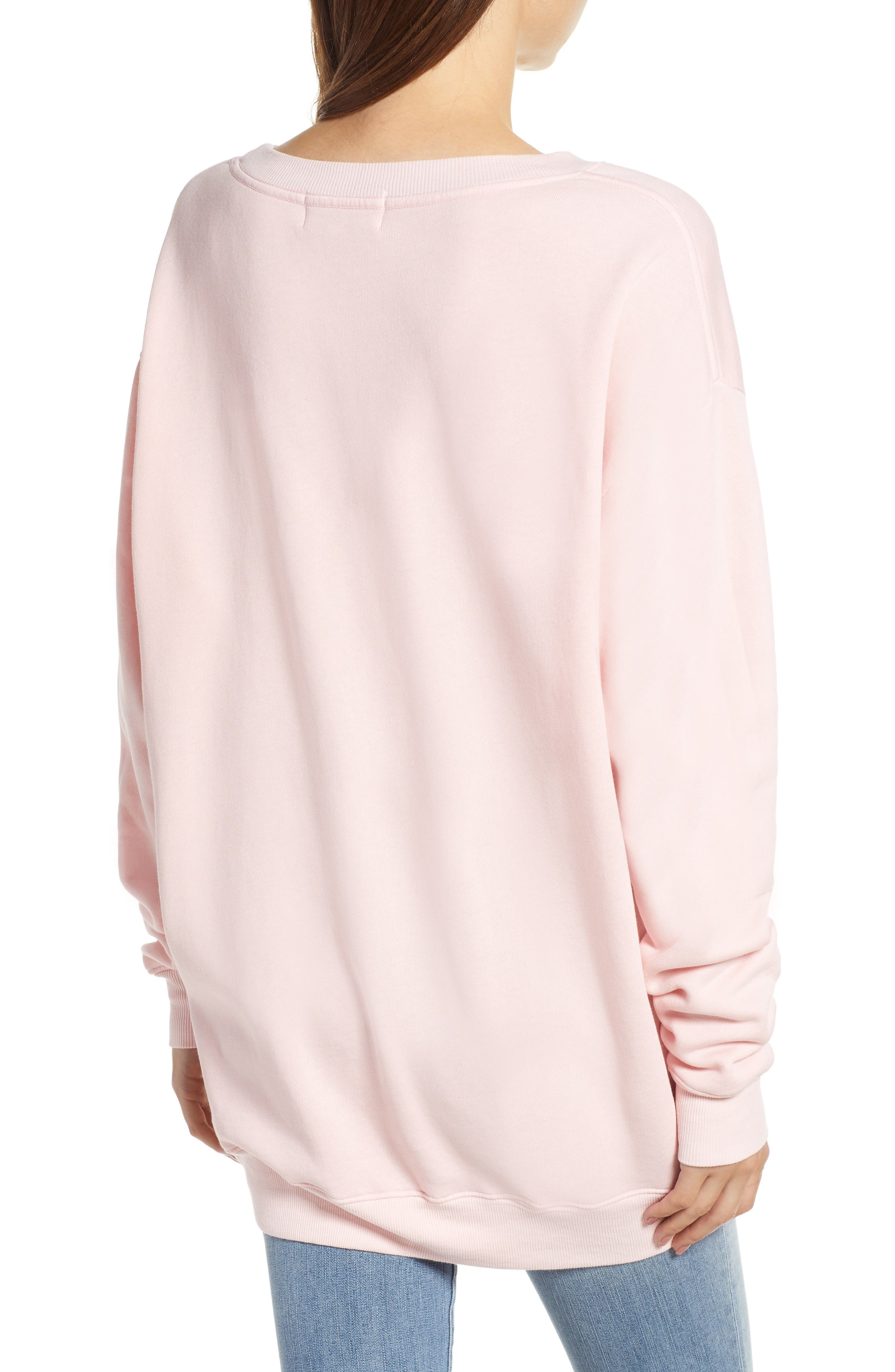 Sweet Stitch Road Trip Pullover,                             Alternate thumbnail 2, color,                             ROMANTIC