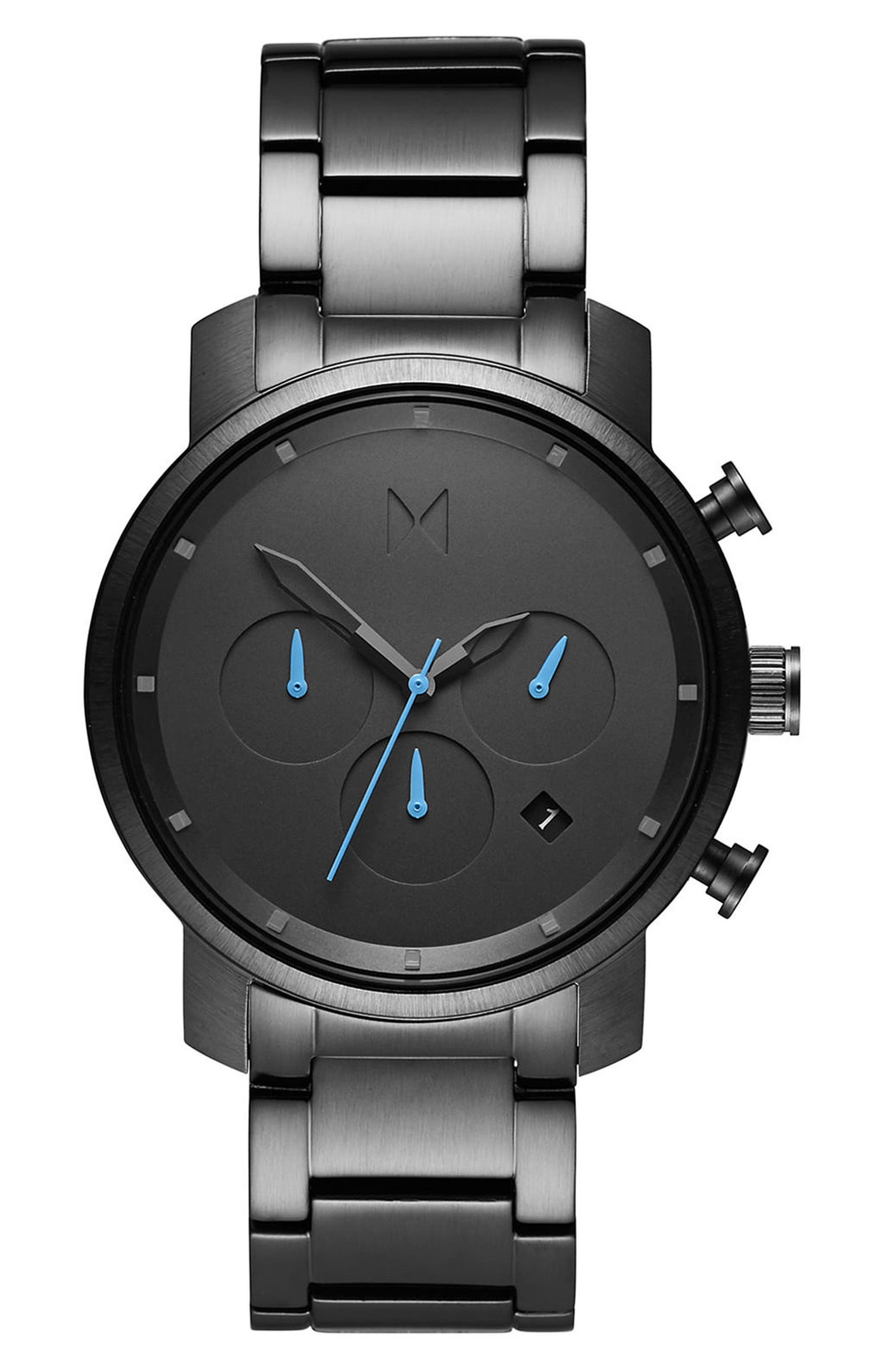 Chrono Chronograph Bracelet Watch, 40mm,                             Main thumbnail 1, color,                             ALL GUNMETAL