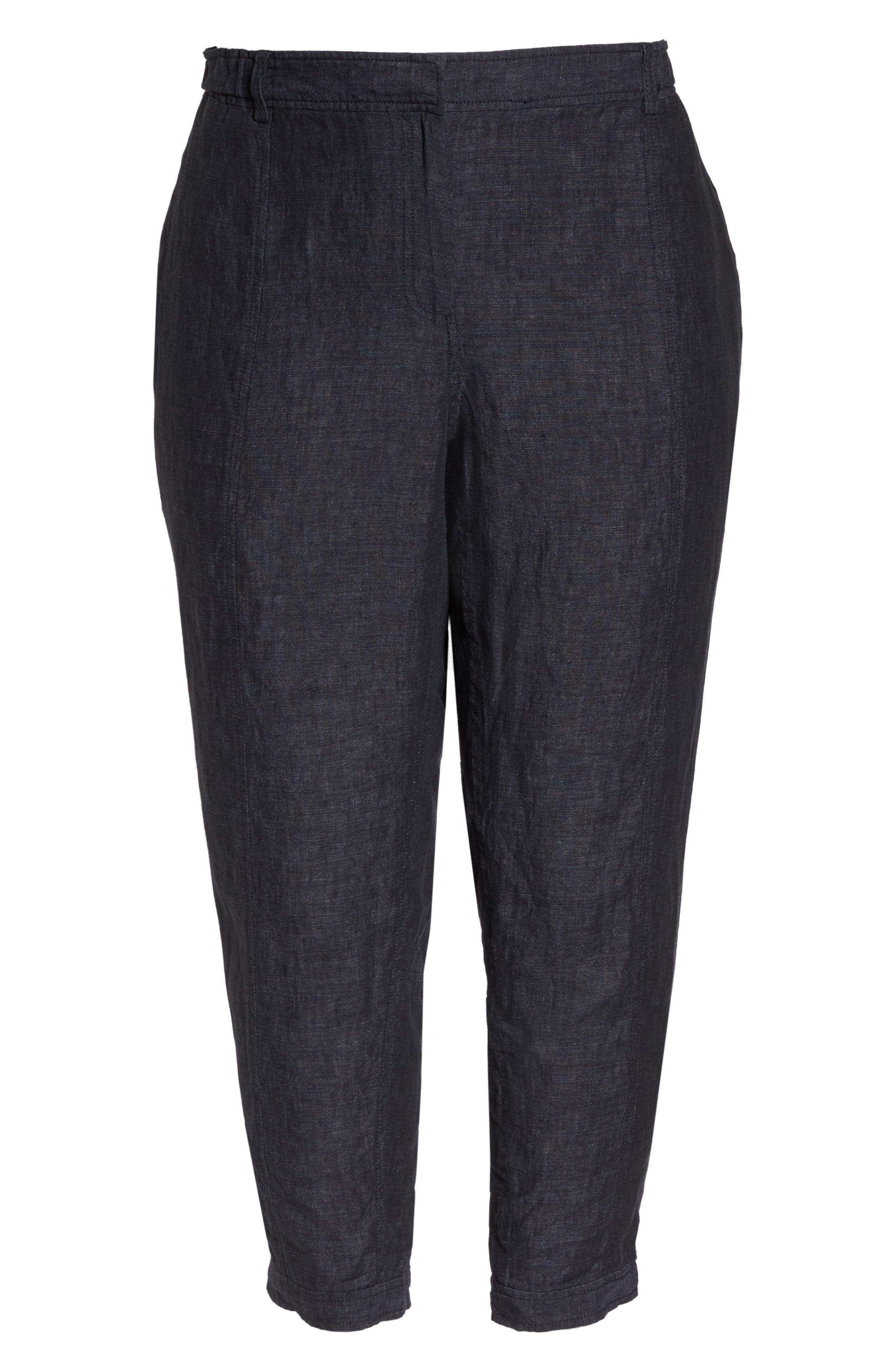 Easy Linen Ankle Pants,                             Alternate thumbnail 7, color,                             480