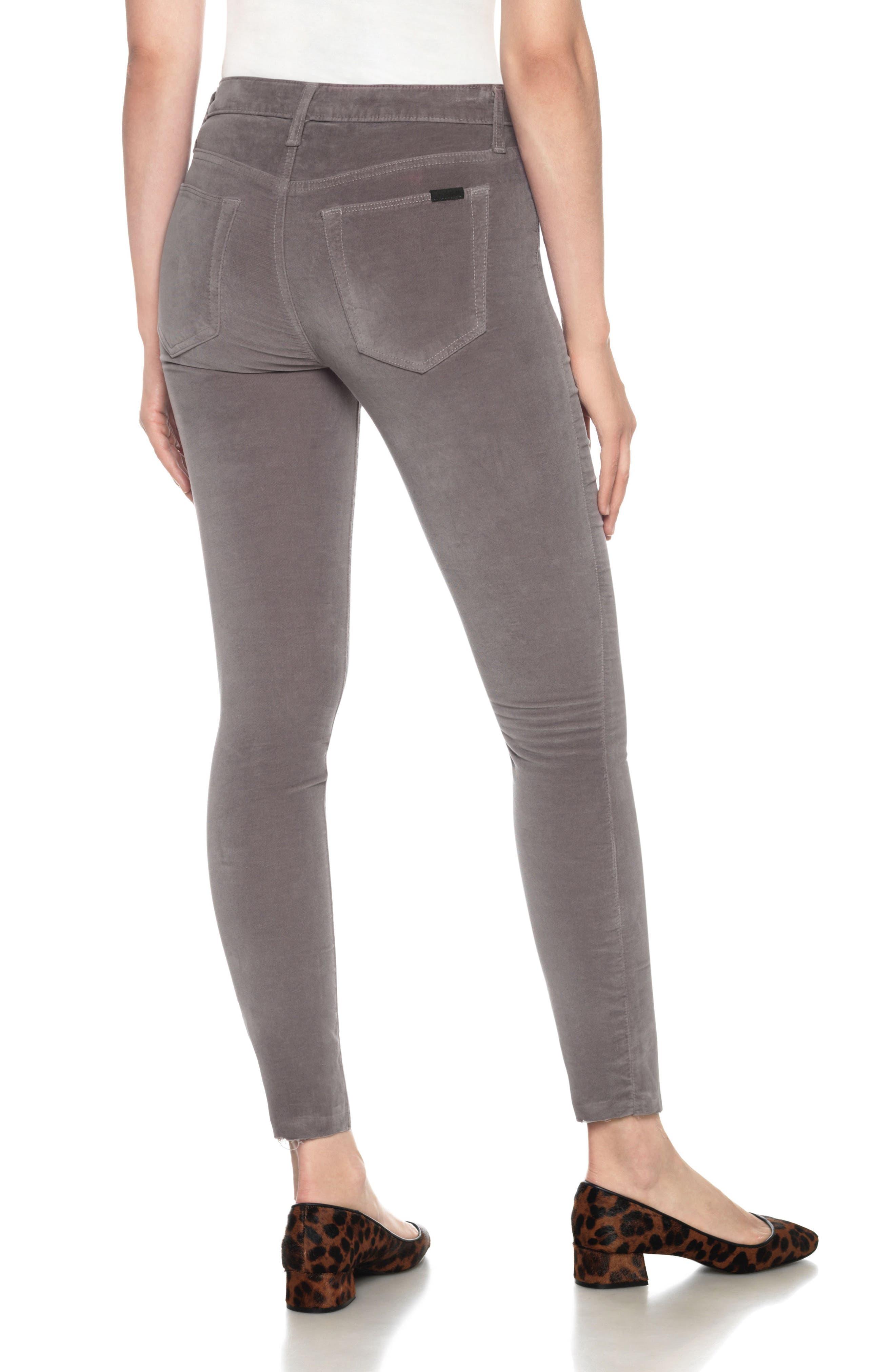 Icon Velvet Ankle Skinny Pants,                             Alternate thumbnail 9, color,