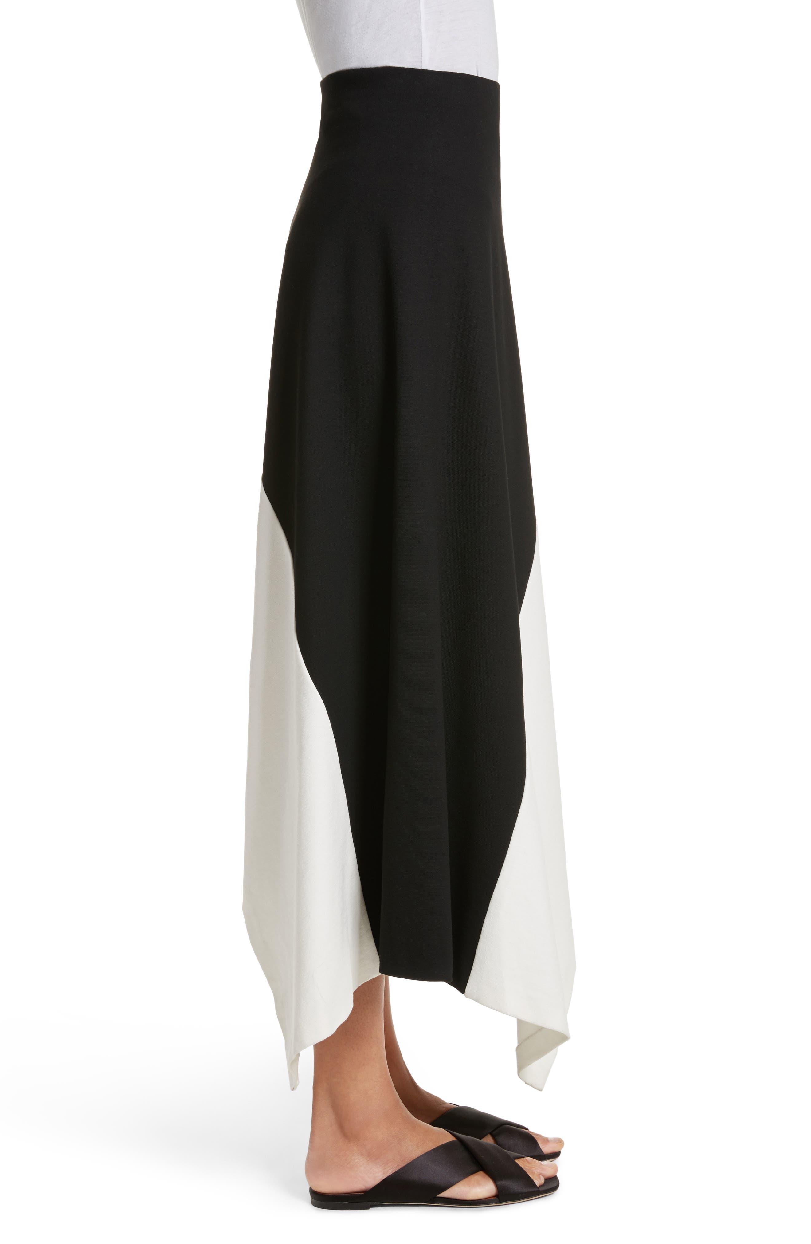 Slashed Panel Jersey Skirt,                             Alternate thumbnail 3, color,