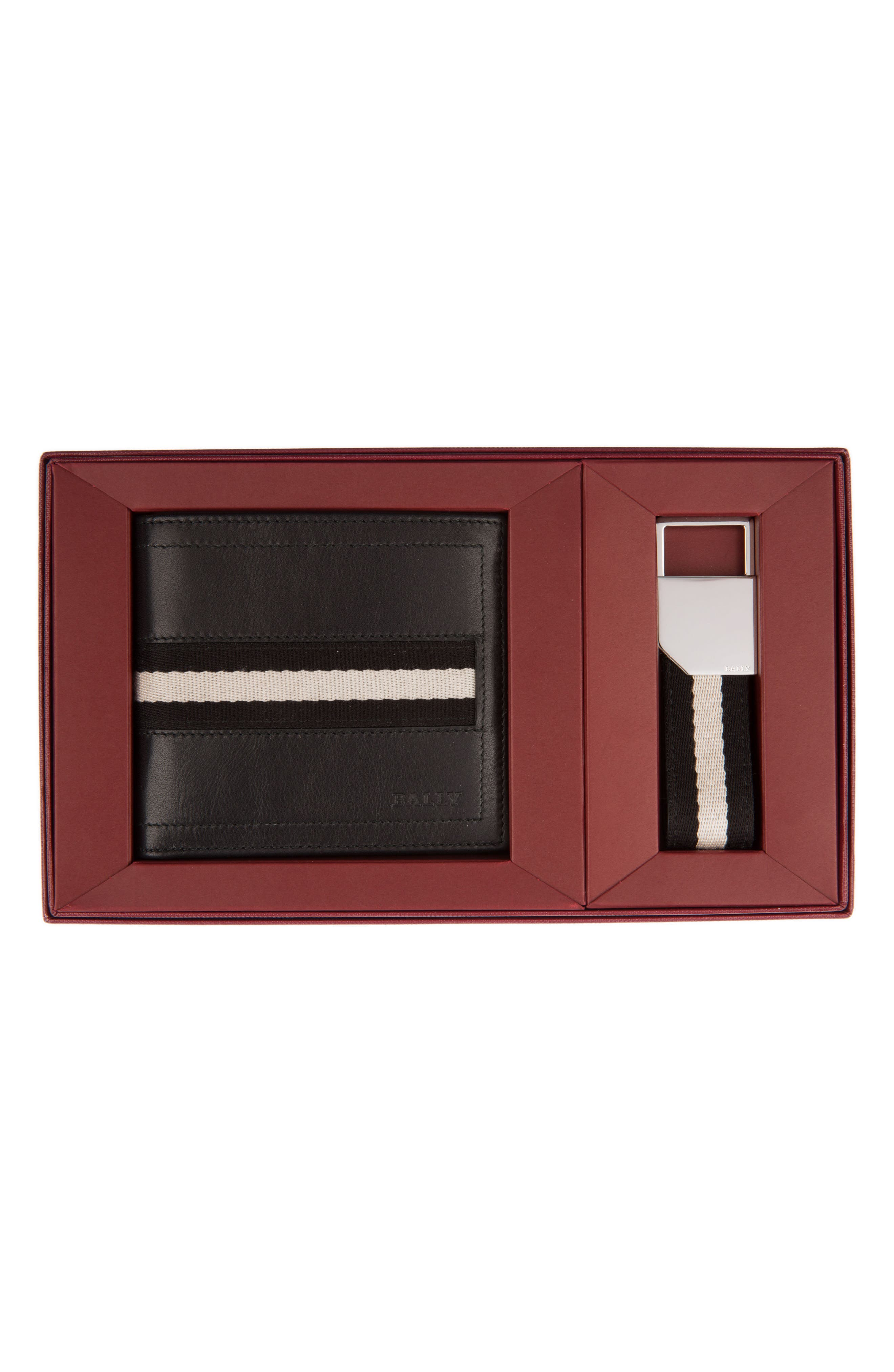 Leather Wallet and Belt Gift Set,                             Main thumbnail 1, color,                             001