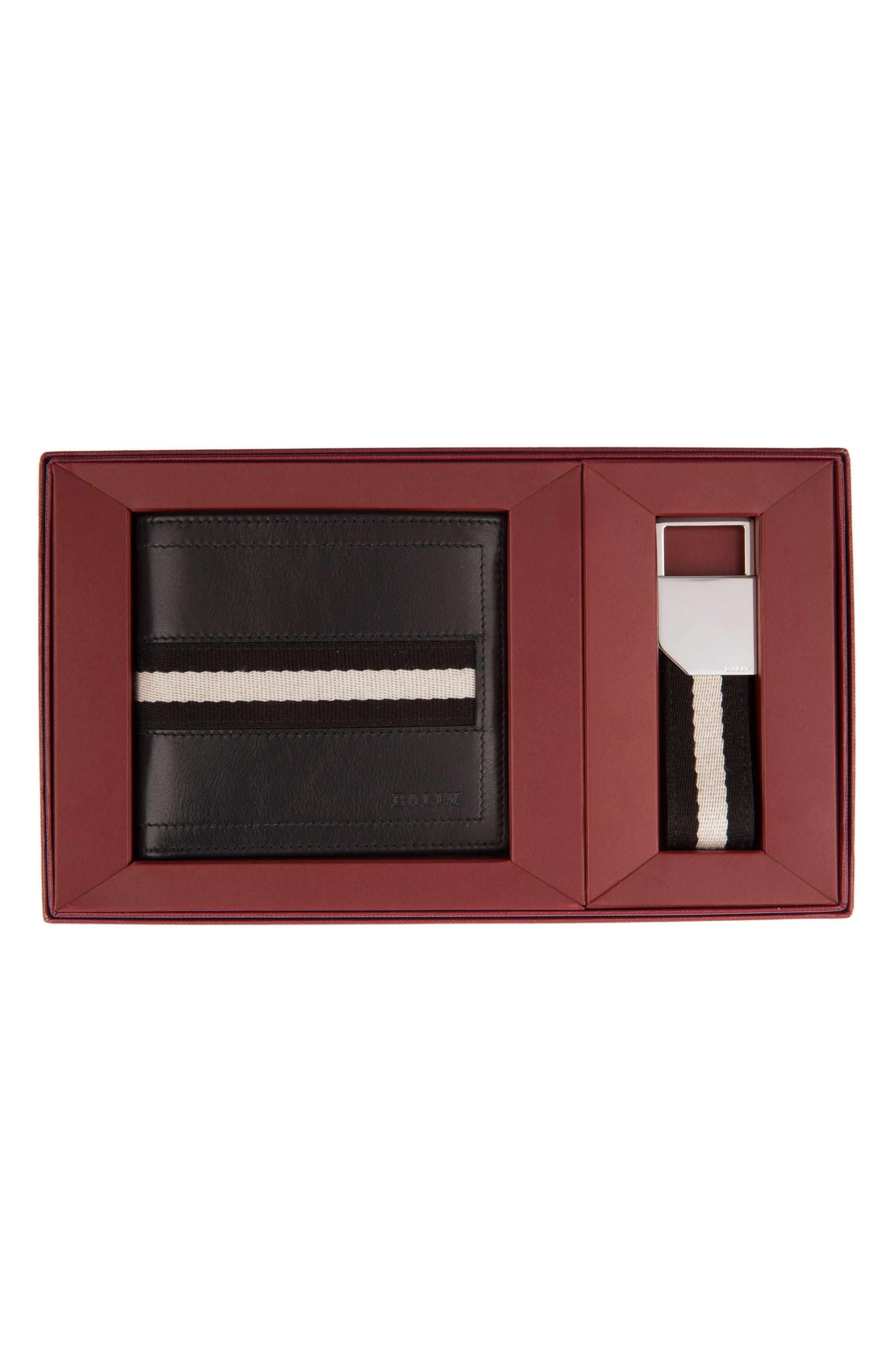 Leather Wallet and Belt Gift Set,                         Main,                         color, 001