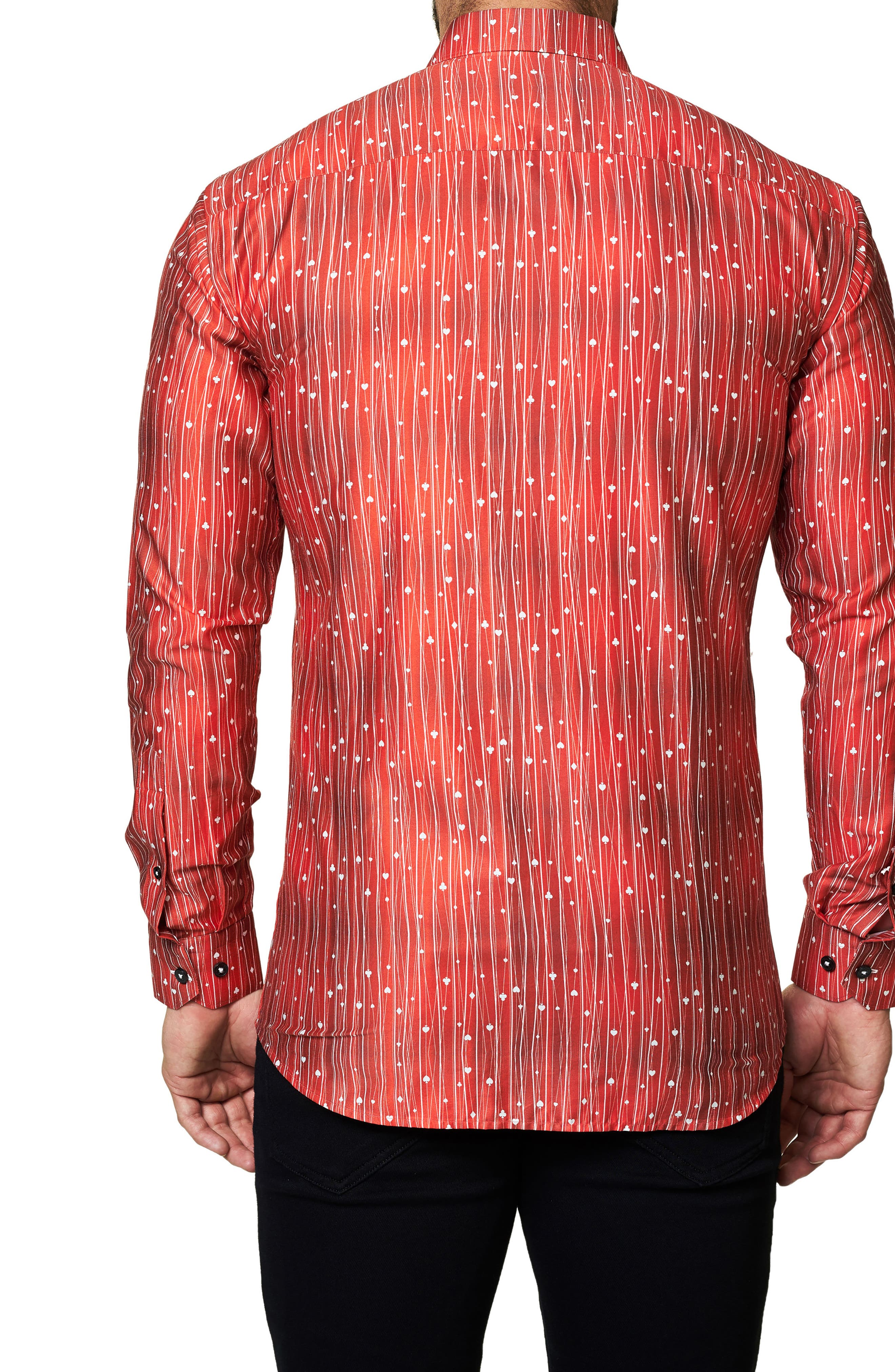 Trim Fit Print Sport Shirt,                             Alternate thumbnail 2, color,                             610