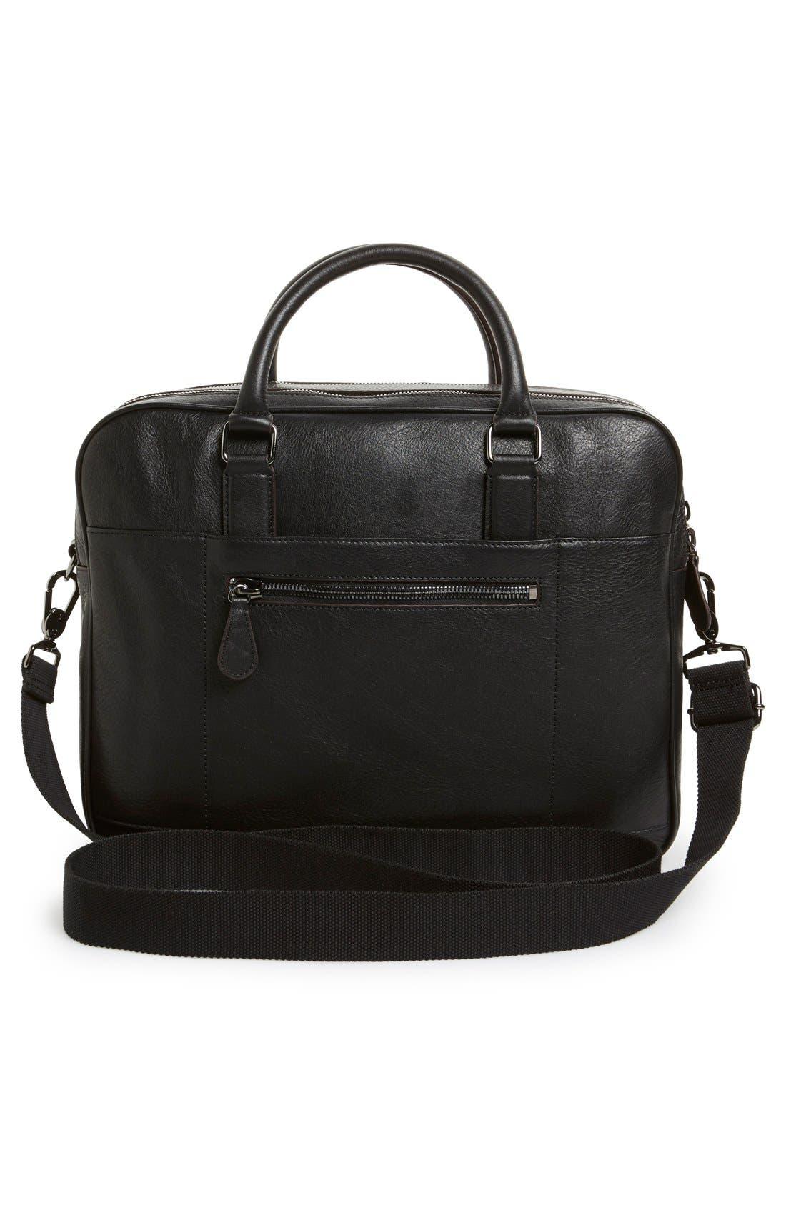 'Ragna' Leather Bowler Bag,                             Alternate thumbnail 3, color,                             001