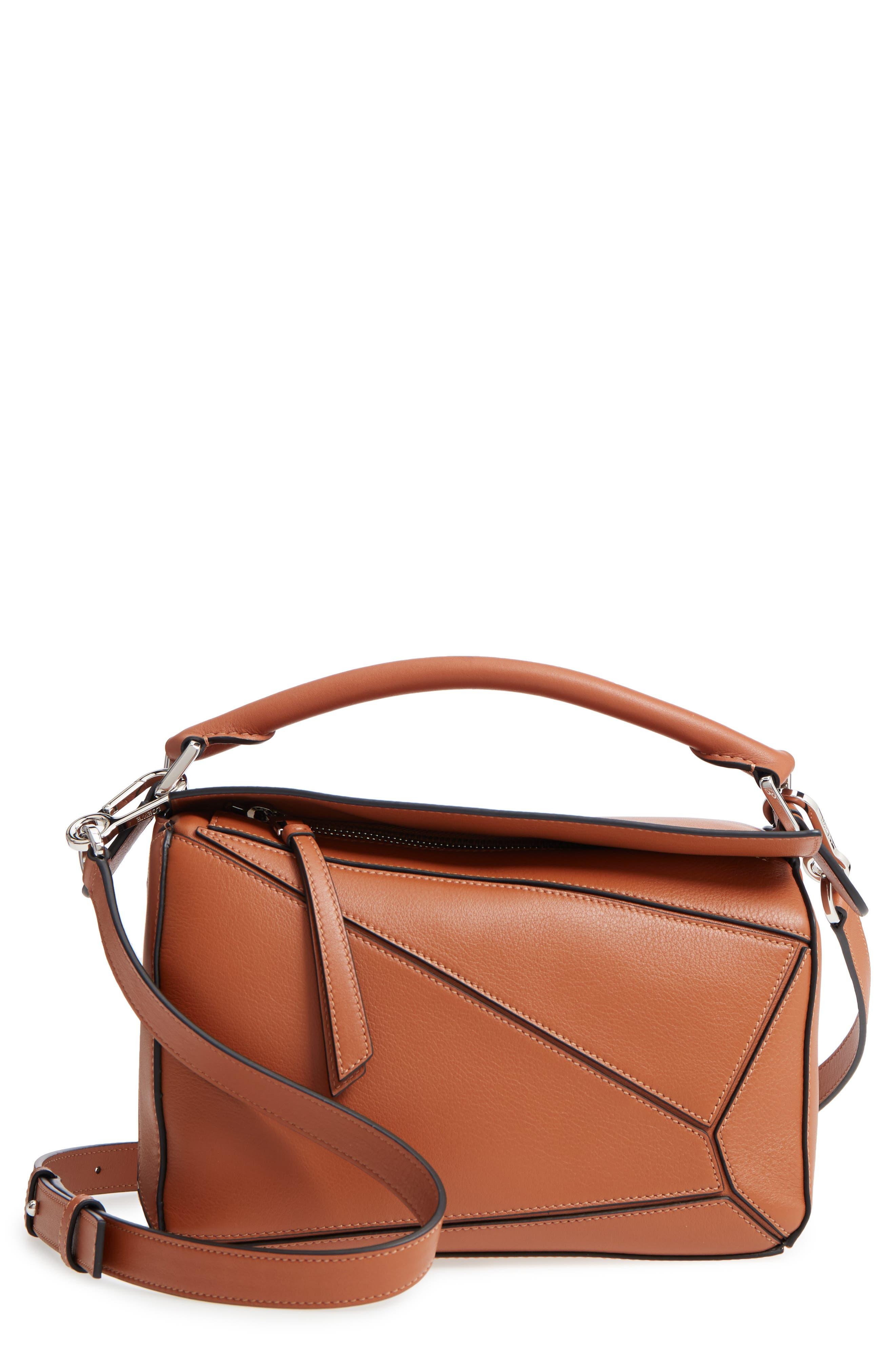 Small Puzzle Shoulder Bag,                         Main,                         color, TAN