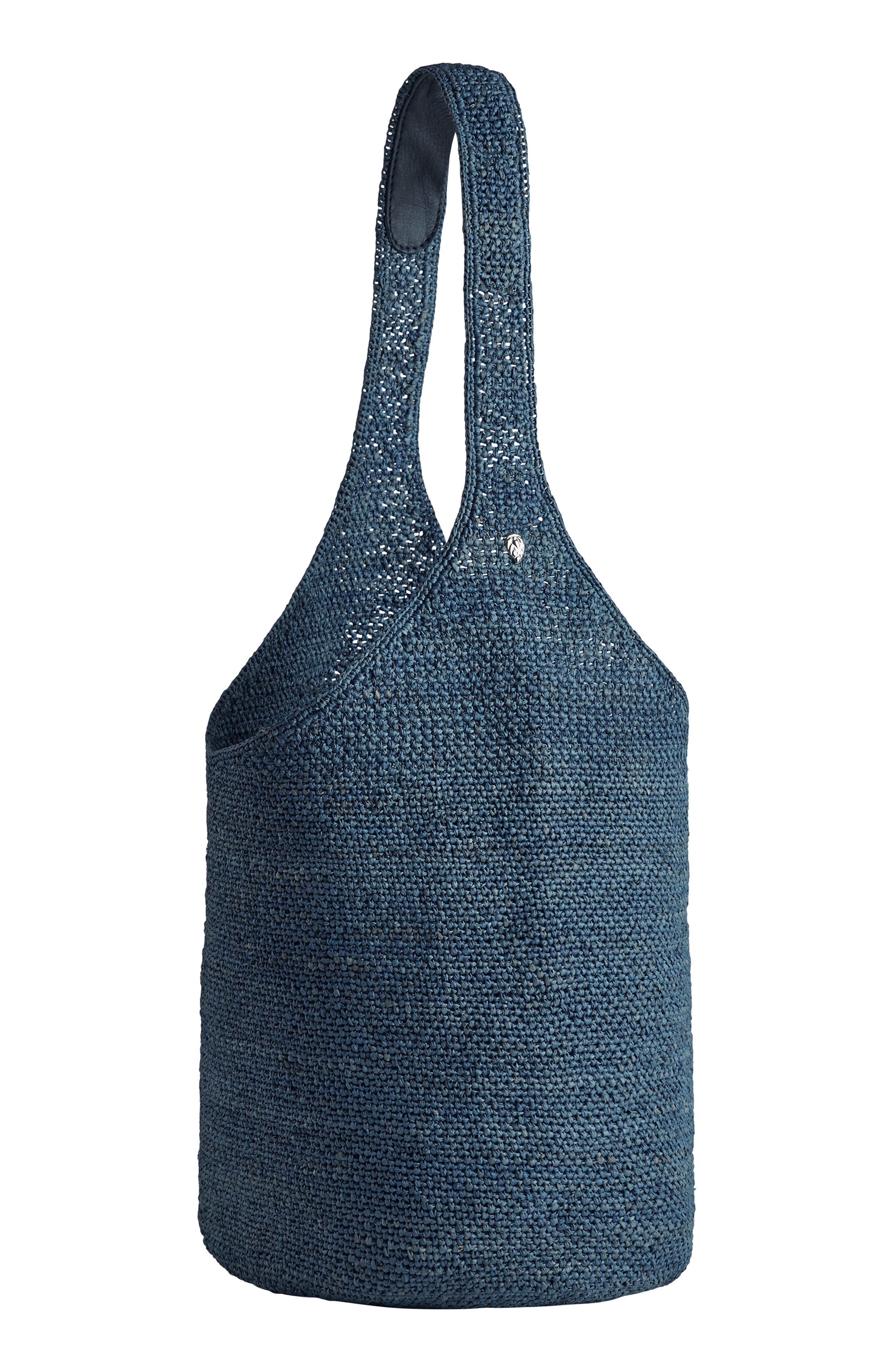 Helen Kaminksi Carillo Woven Raffia Sac Bucket Bag,                         Main,                         color, GLACIAL
