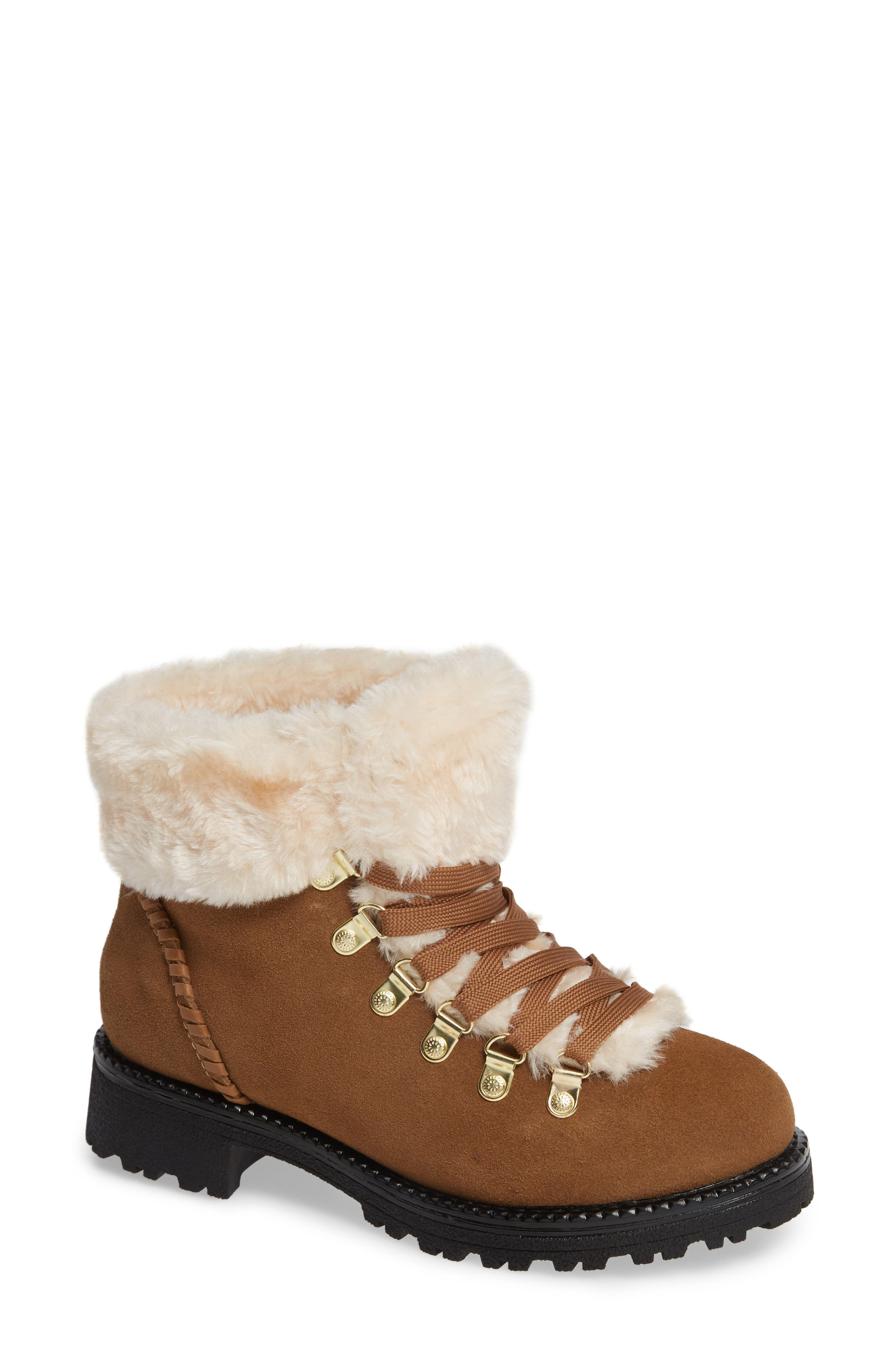 Jack Rogers Charlie Faux Shearling Lined Bootie, Brown