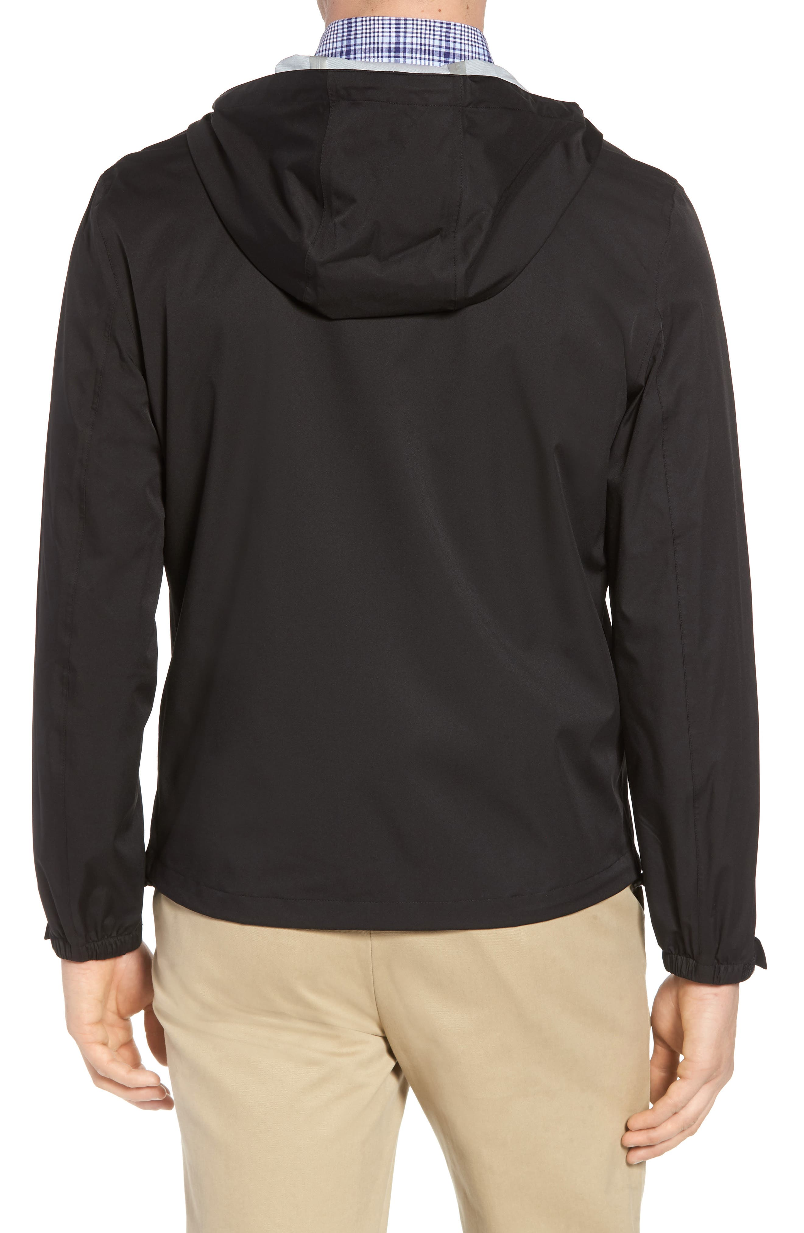 Packable Water Resistant Jacket,                             Alternate thumbnail 2, color,                             BLACK