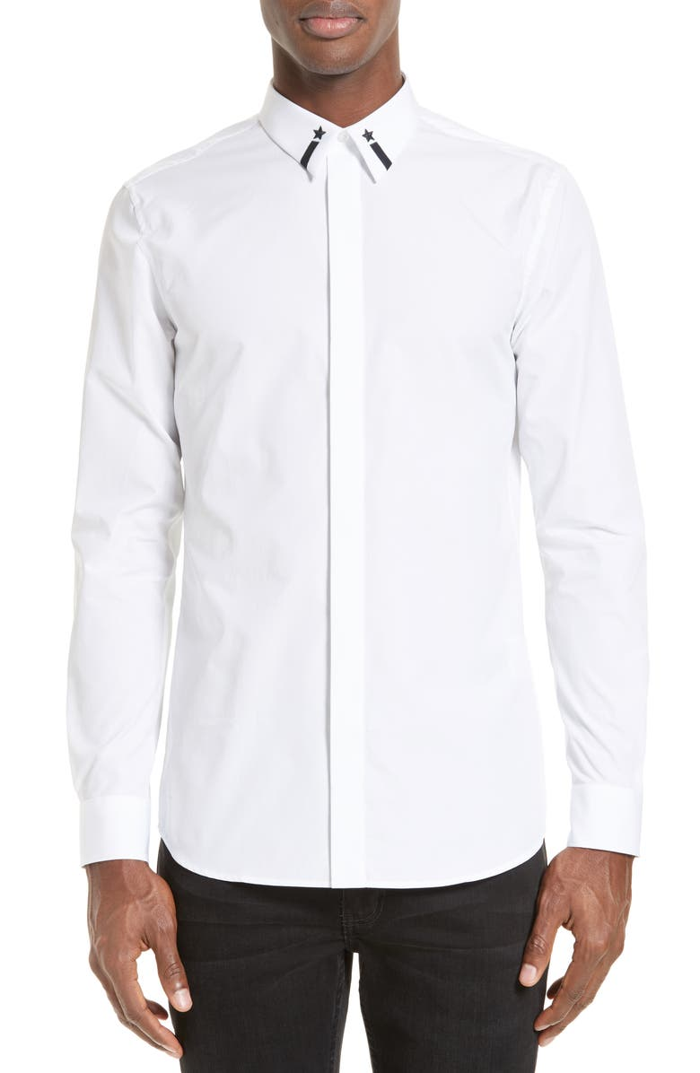 Givenchy Embroidered Collar Shirt Nordstrom