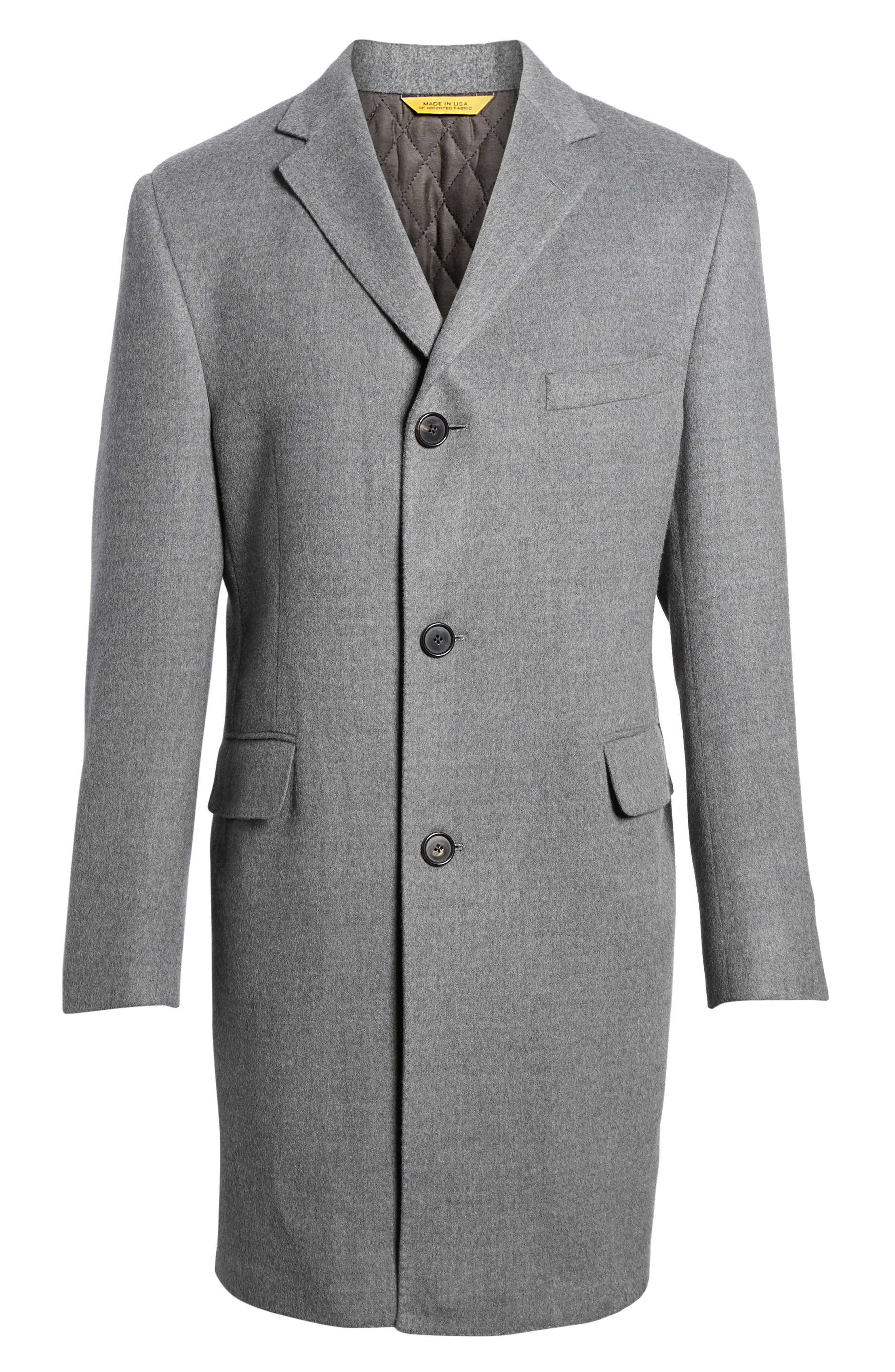 Classic Fit Wool Topcoat,                             Alternate thumbnail 5, color,                             020