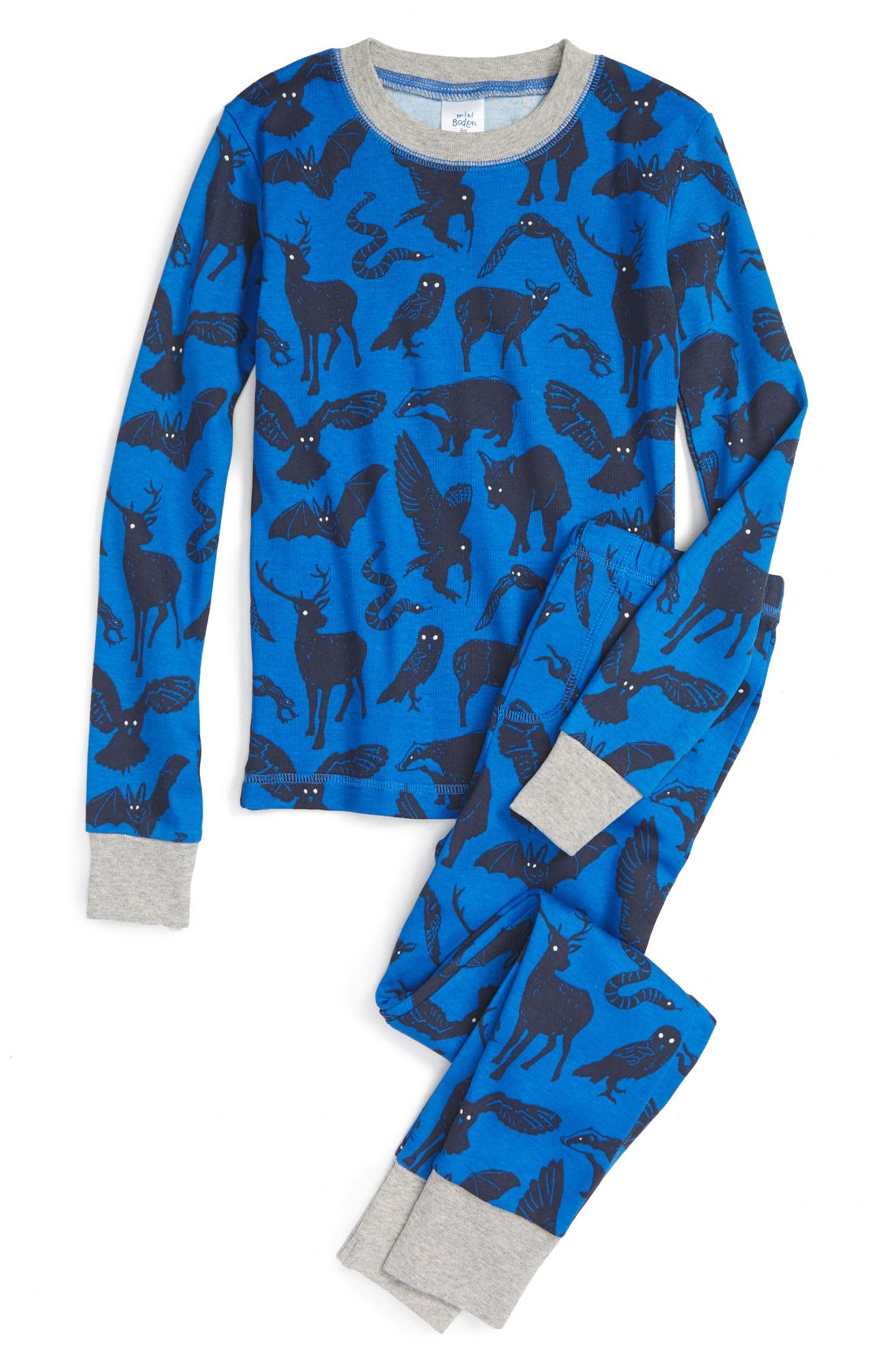 fc92fa90f6 Mini Boden Glow in the Dark Fitted Two-Piece Pajamas (Little Boys   Big  Boys)
