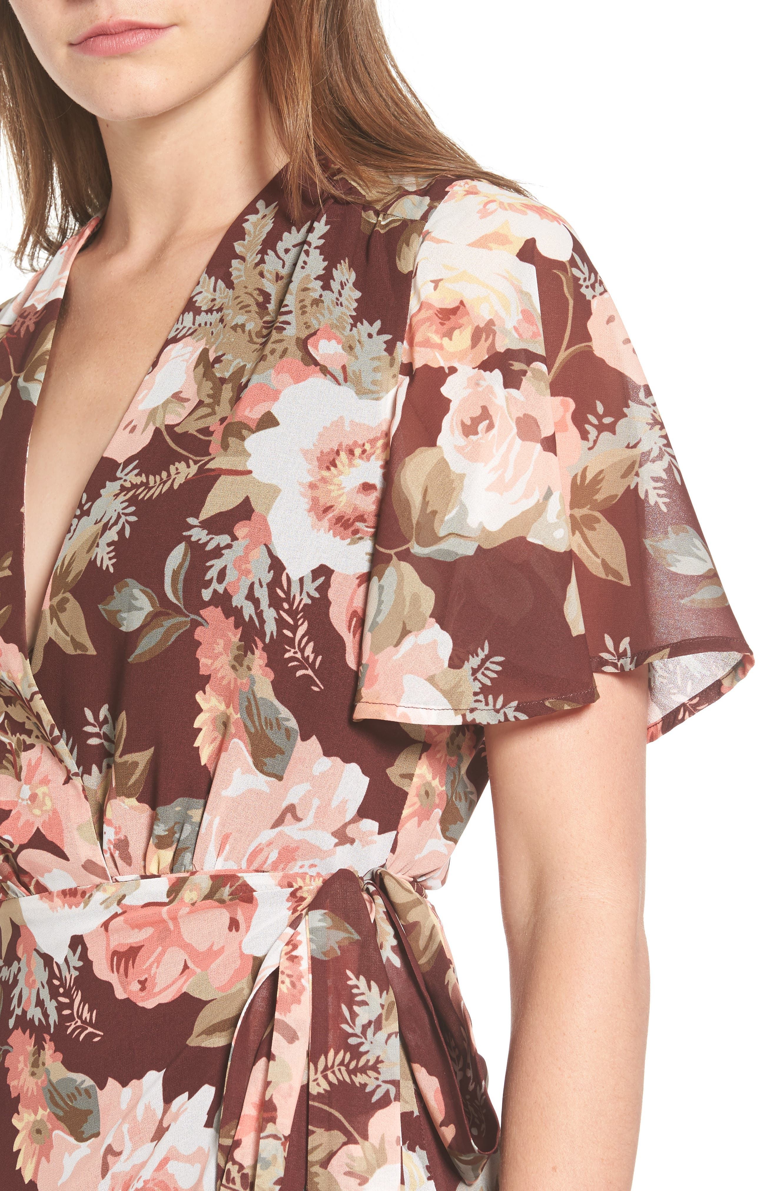 Plaza Wrap Maxi Dress,                             Alternate thumbnail 8, color,