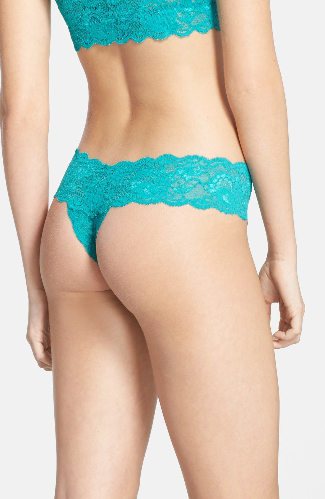 'Never Say Never Cutie' Thong,                             Alternate thumbnail 352, color,