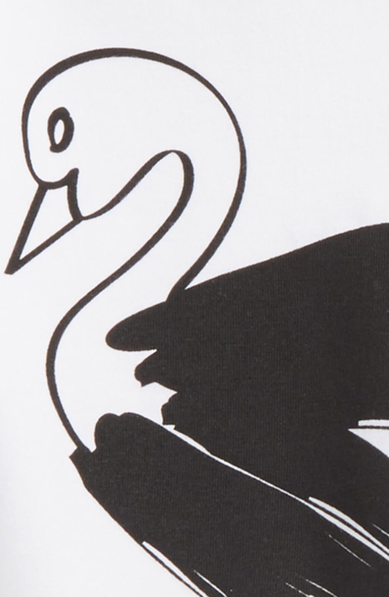 Swan Tee & Chambray Skirt Set,                             Alternate thumbnail 2, color,                             109