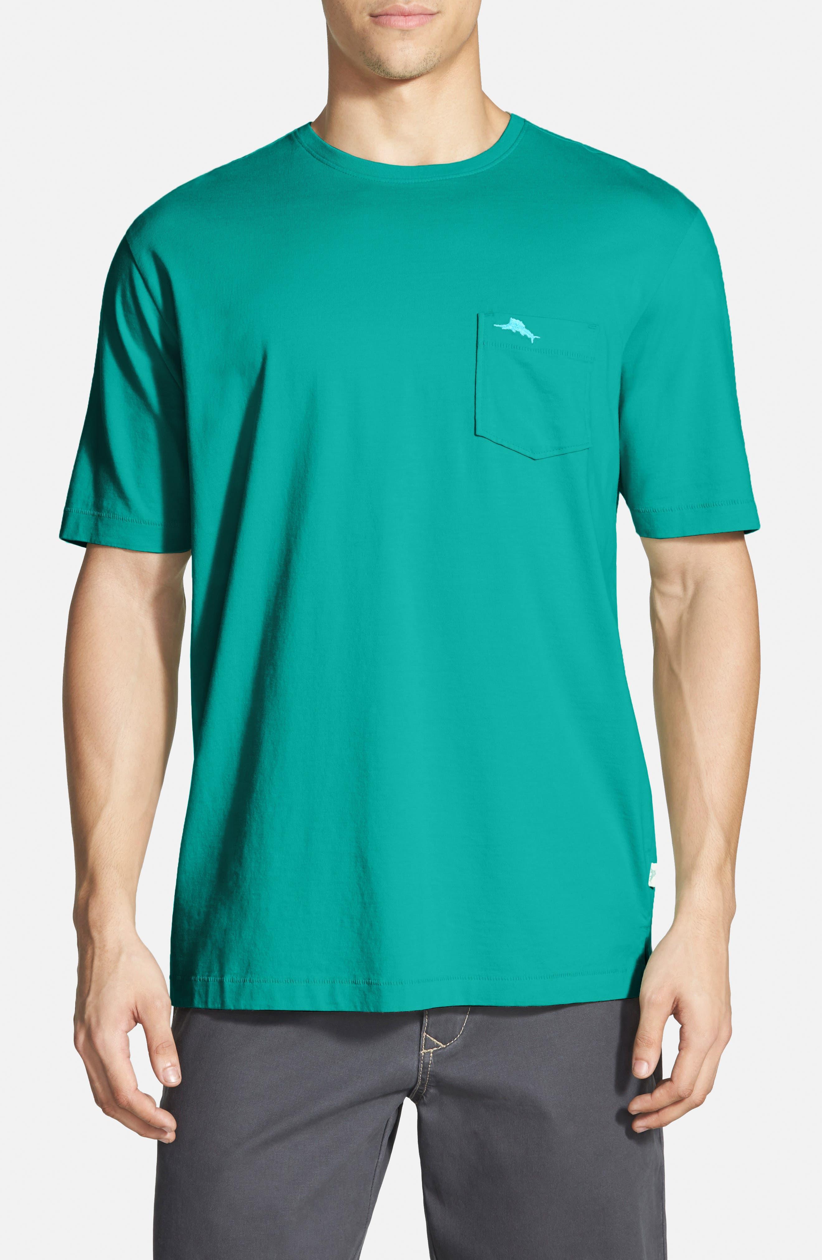 New Bali Sky Pima Cotton Pocket T-Shirt,                             Main thumbnail 16, color,