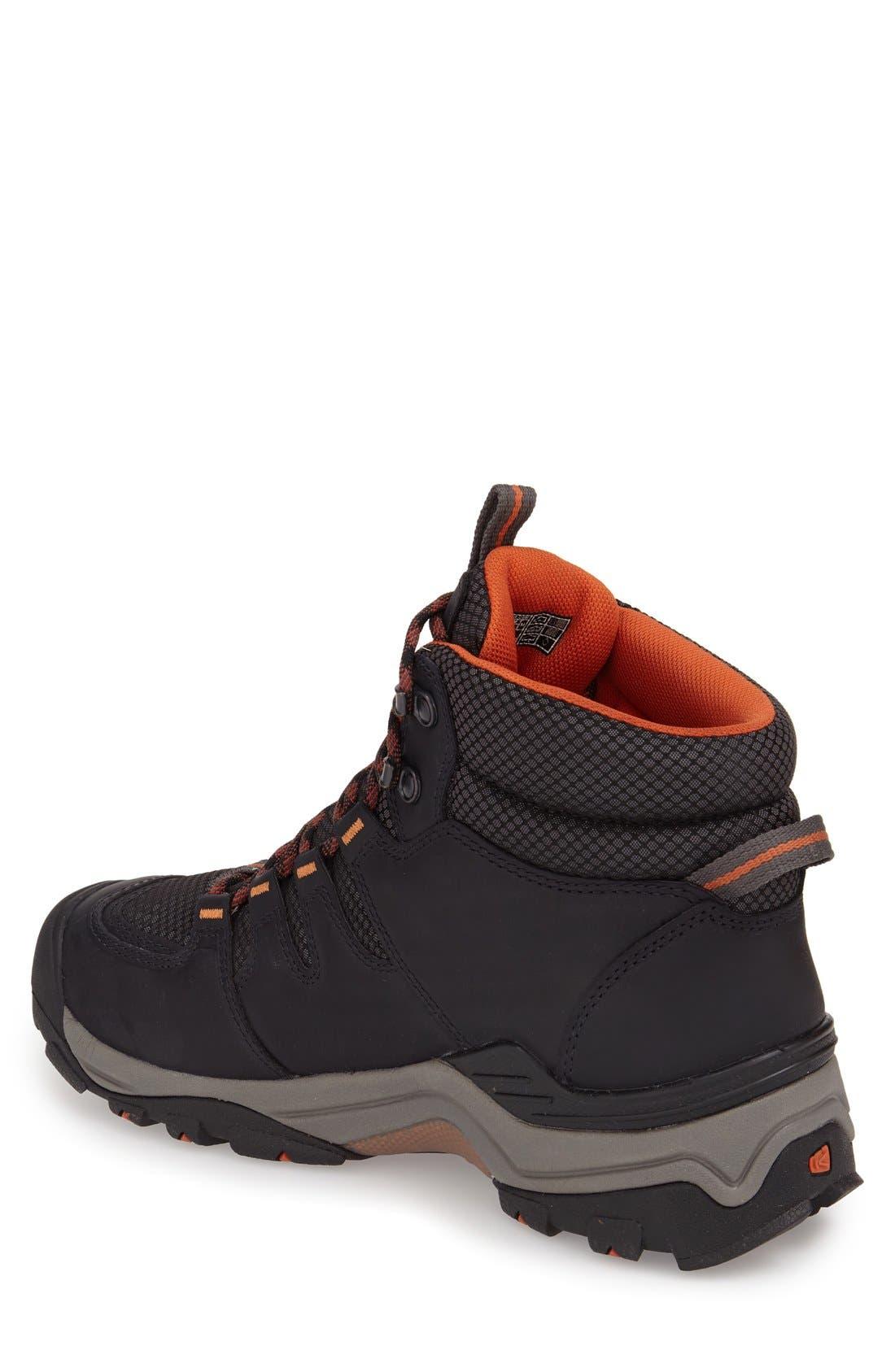 Gypsum II Waterproof Hiking Boot,                             Alternate thumbnail 2, color,                             BLACK NUBUCK LEATHER