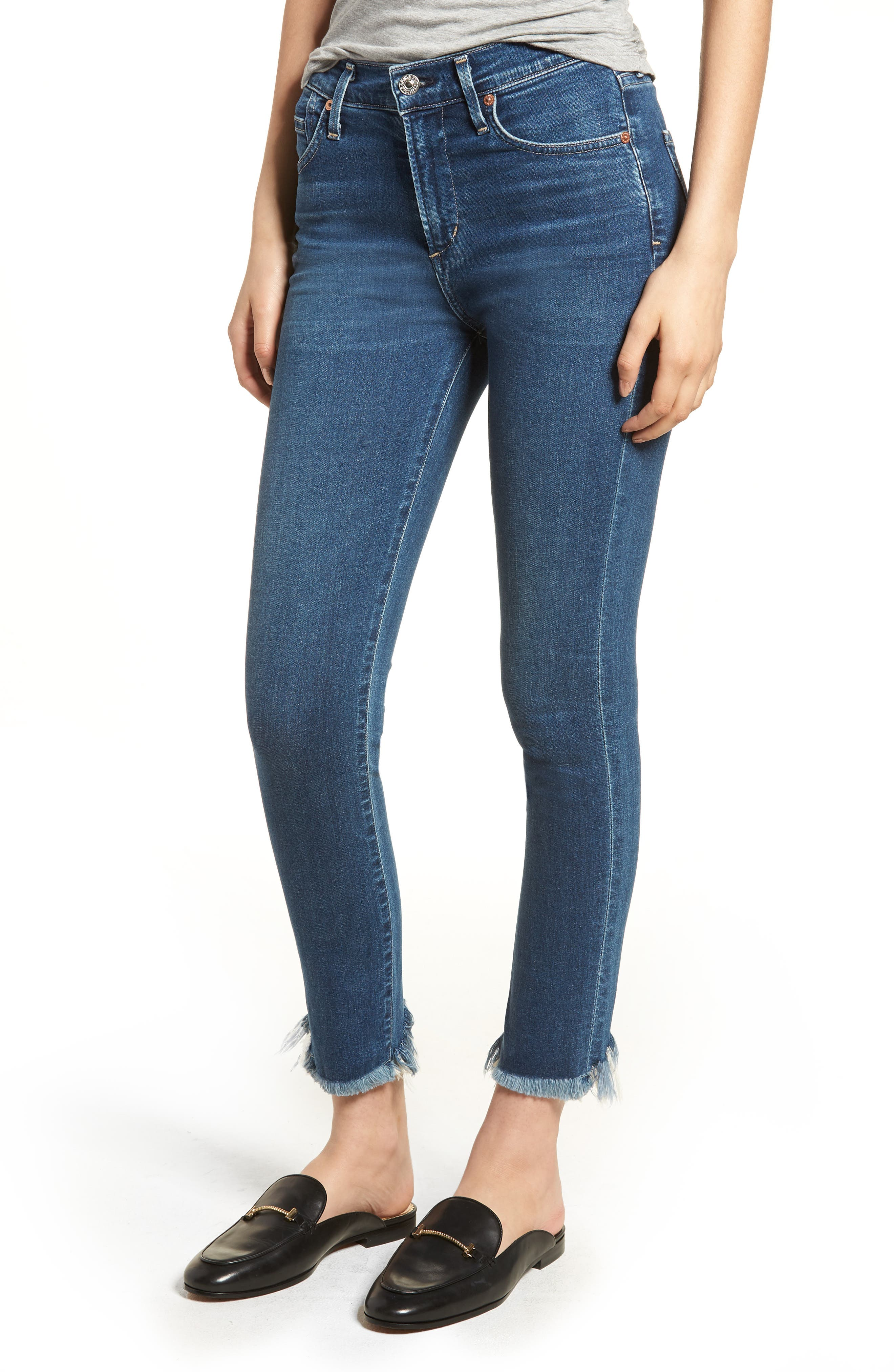Rocket High Waist Crop Skinny Jeans,                         Main,                         color, FREQUENCY