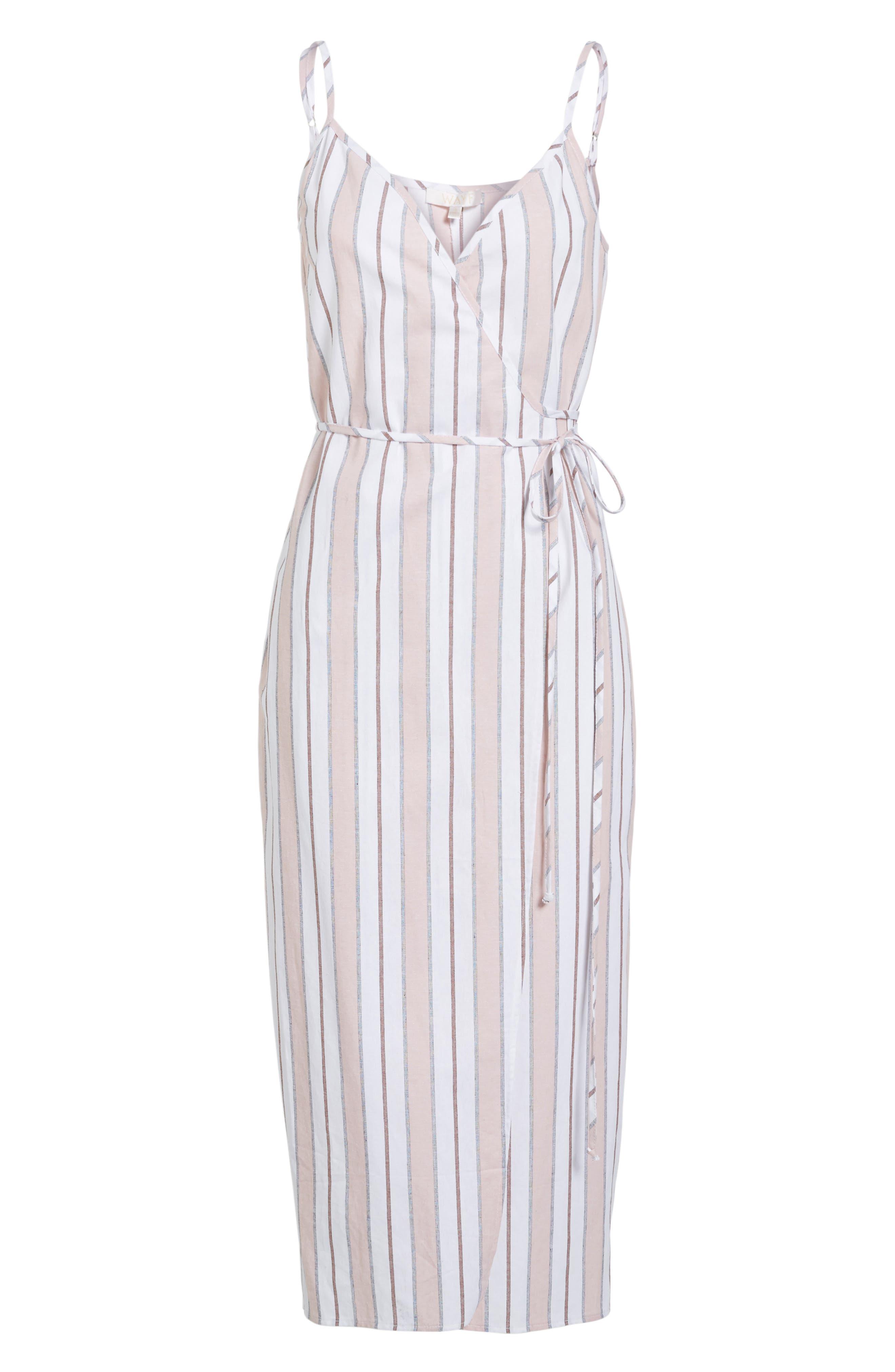 Wrap Midi Dress,                             Alternate thumbnail 23, color,