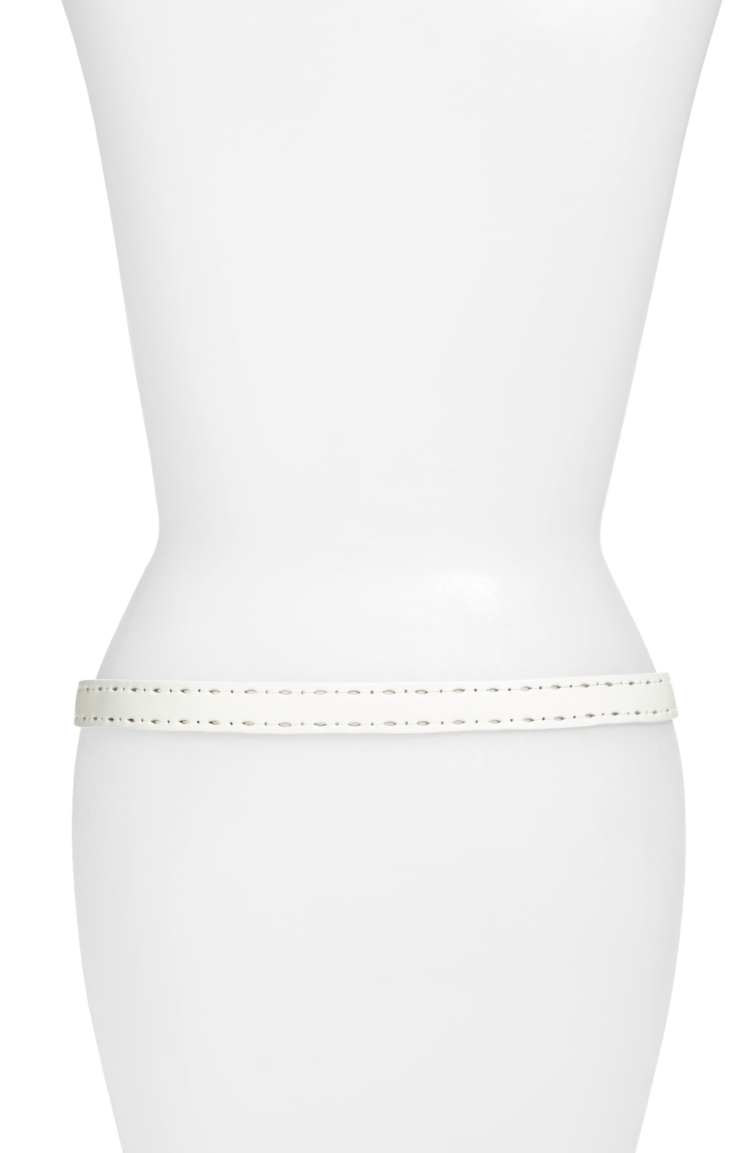 Trevor Perforated Leather Hip Belt,                             Alternate thumbnail 2, color,                             100