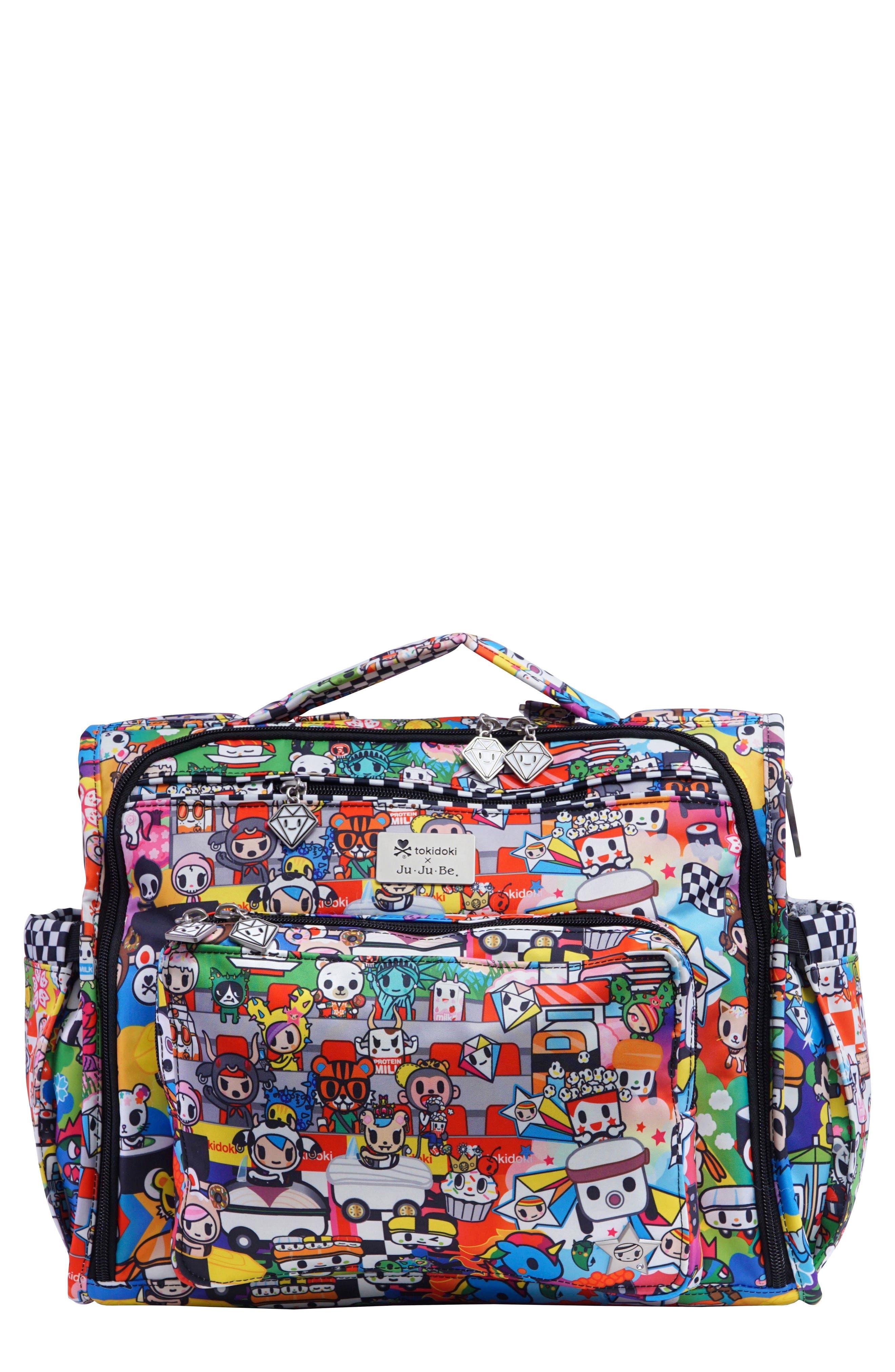 tokidoki x Ju-Ju-Be 'BFF' Diaper Bag,                             Main thumbnail 1, color,                             SUSHI CARS