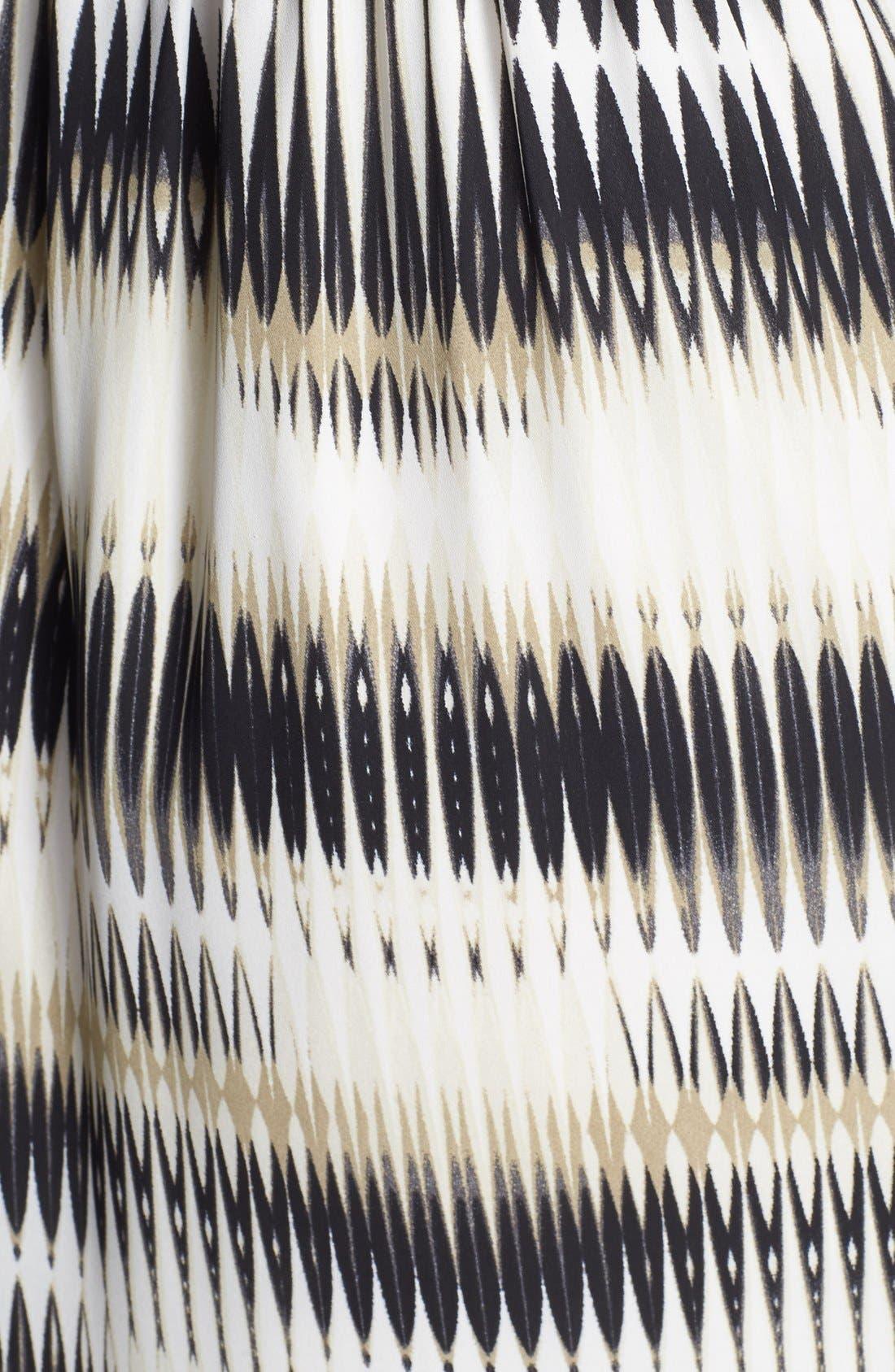 'Linear Echoes' Print Midi Dress,                             Alternate thumbnail 7, color,