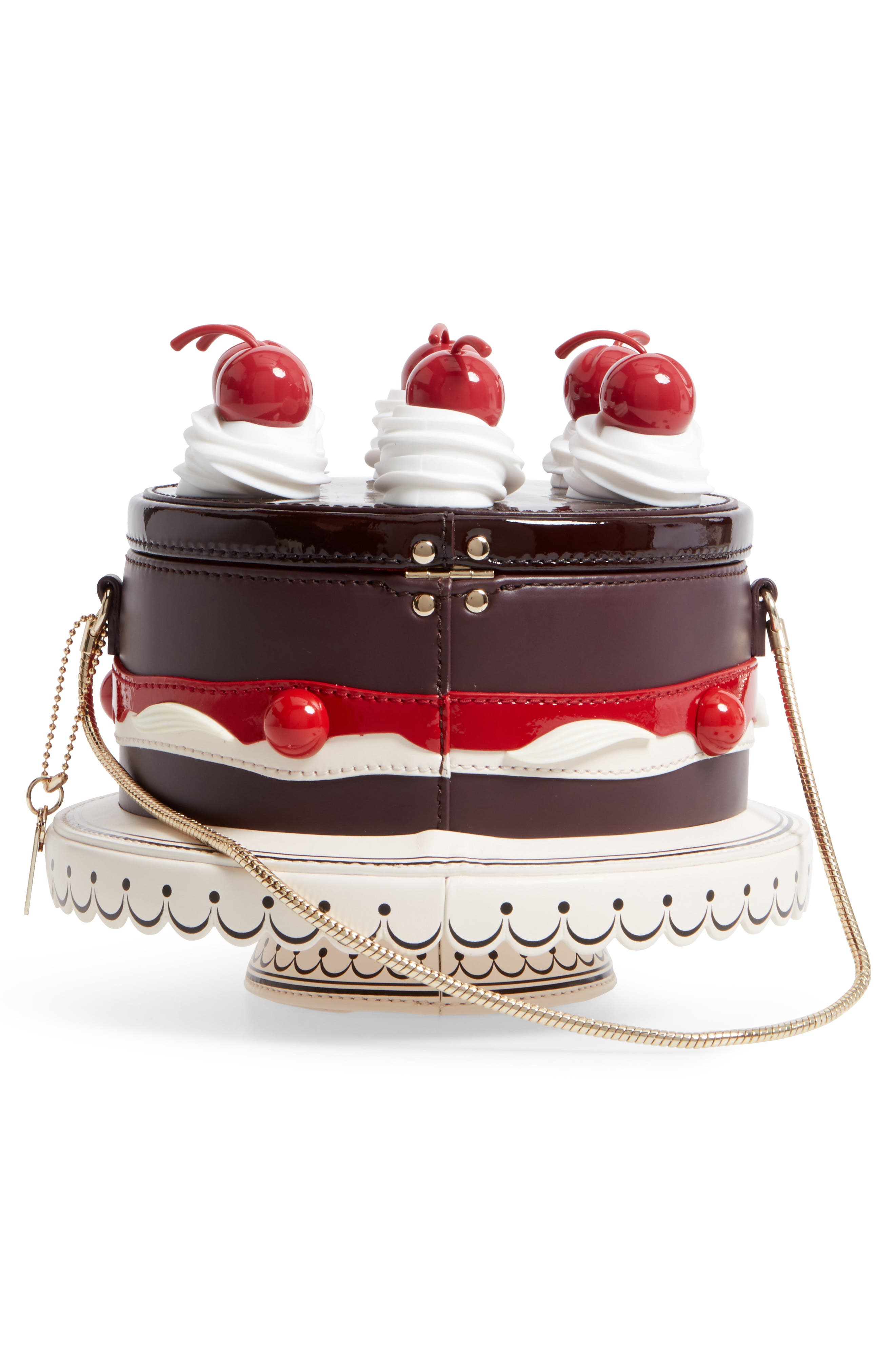 ma cherie - cherry cake leather shoulder bag,                             Alternate thumbnail 3, color,                             200