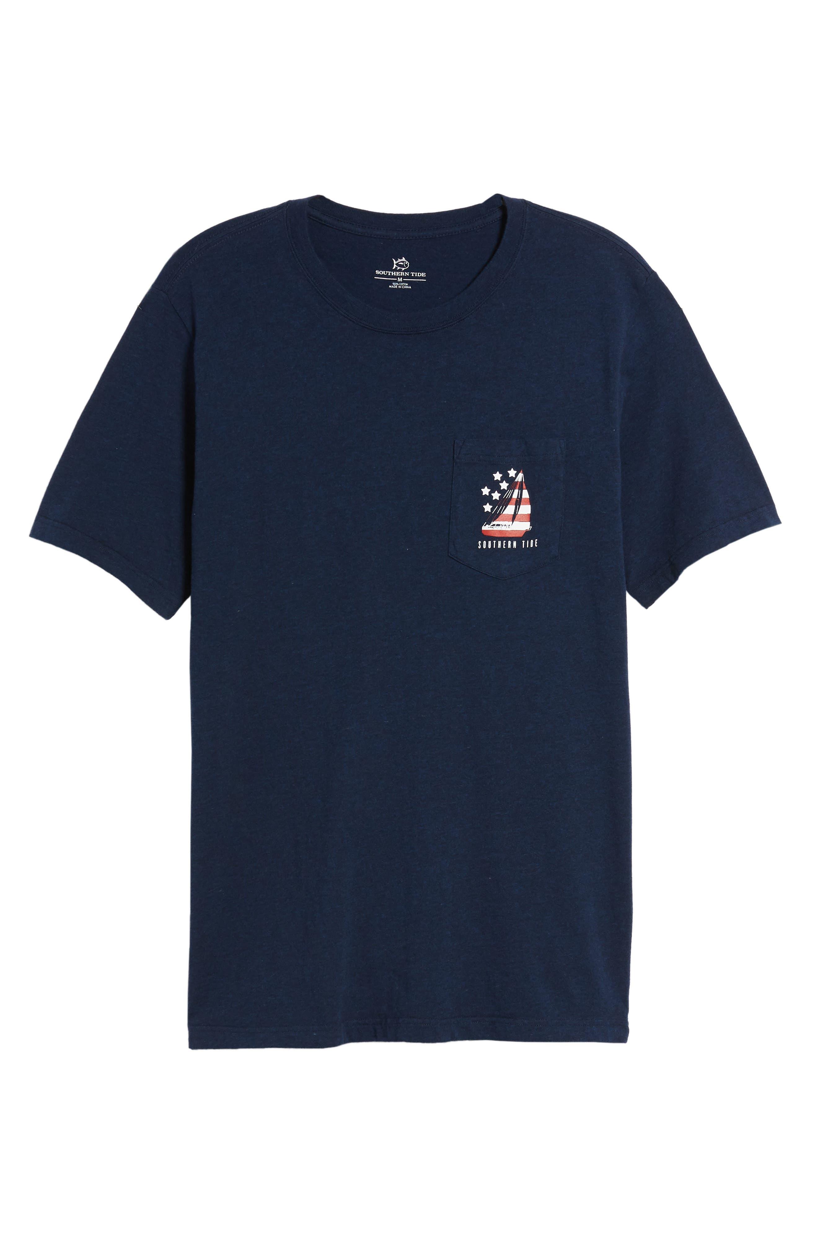Patriotic Sail Regular Fit T-Shirt,                             Alternate thumbnail 6, color,