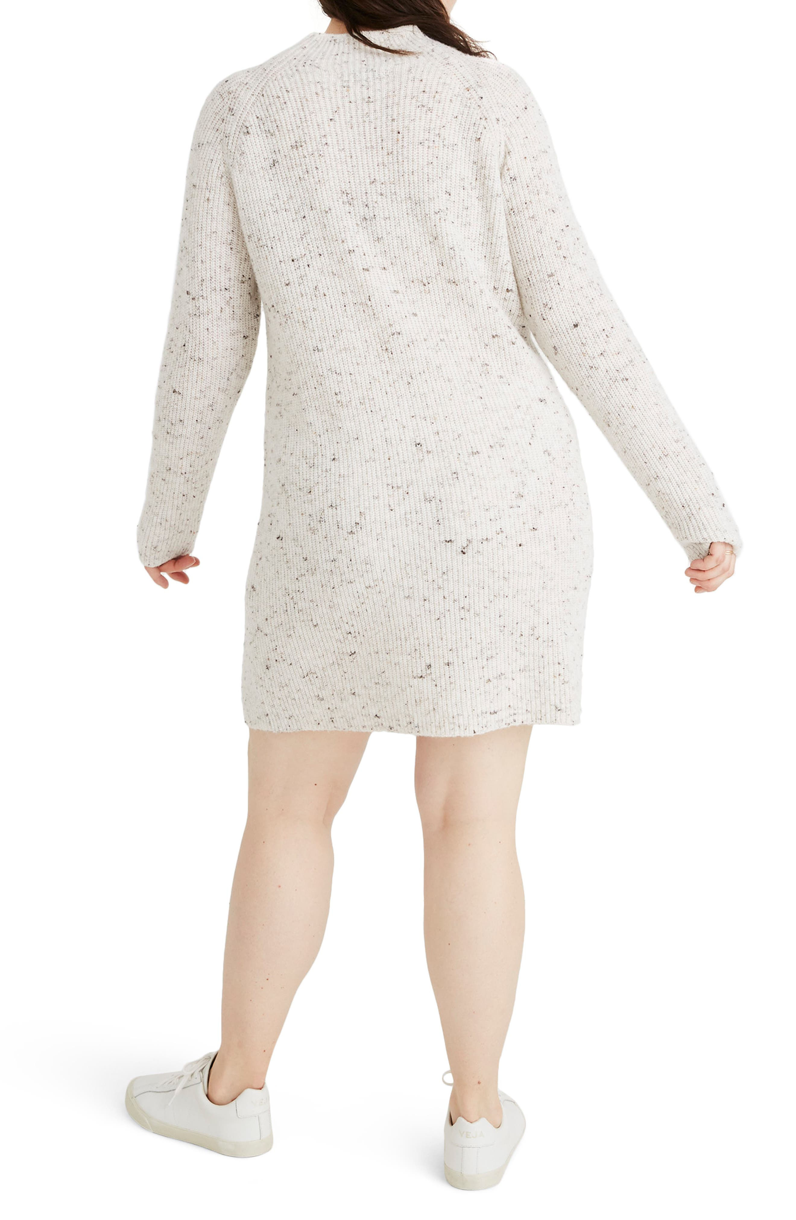 Northfield Donegal Mock Neck Sweater Dress,                             Alternate thumbnail 7, color,                             DONEGAL STORM