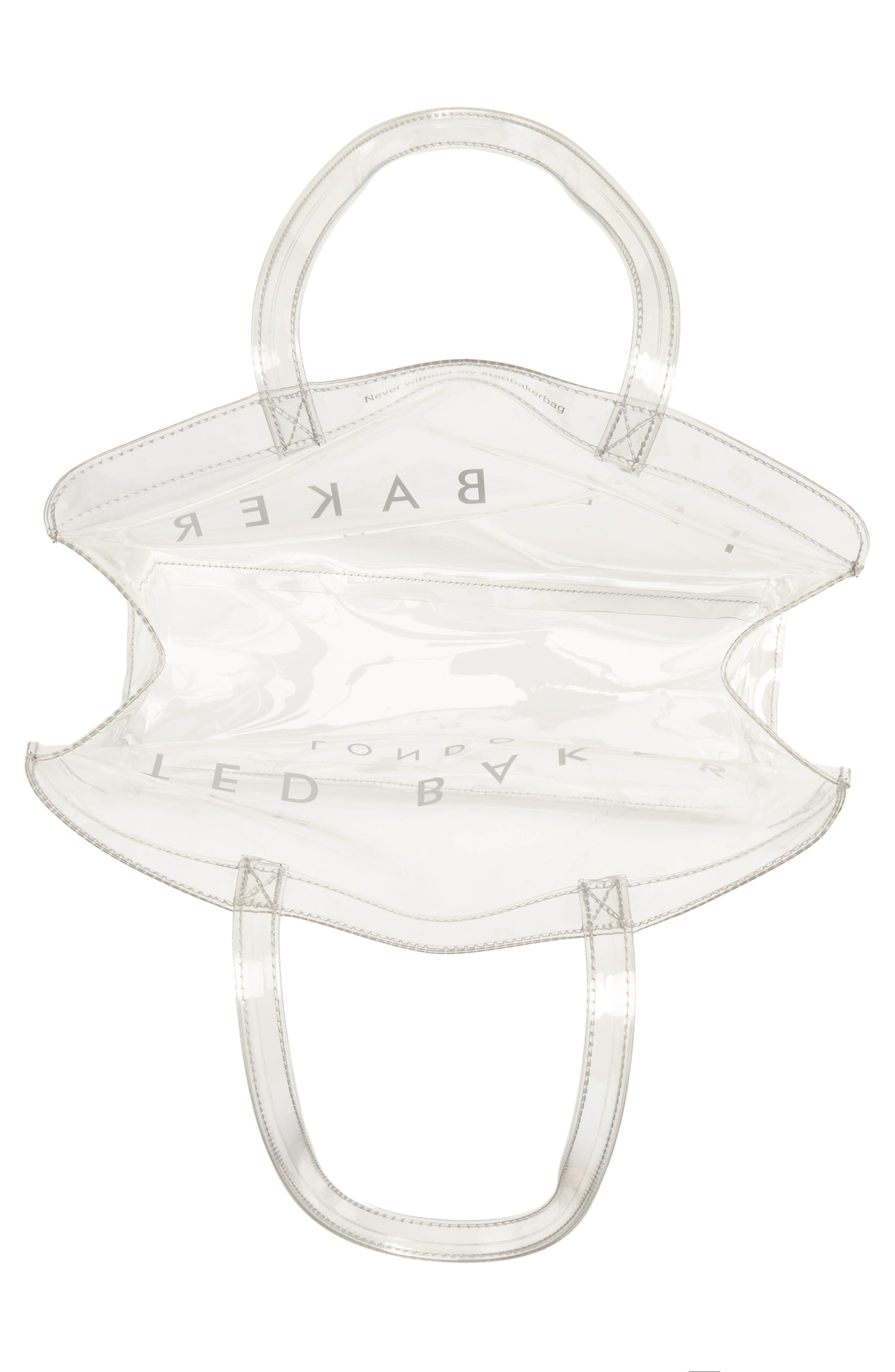 Large Clear Icon Tote,                             Alternate thumbnail 4, color,                             CLEAR